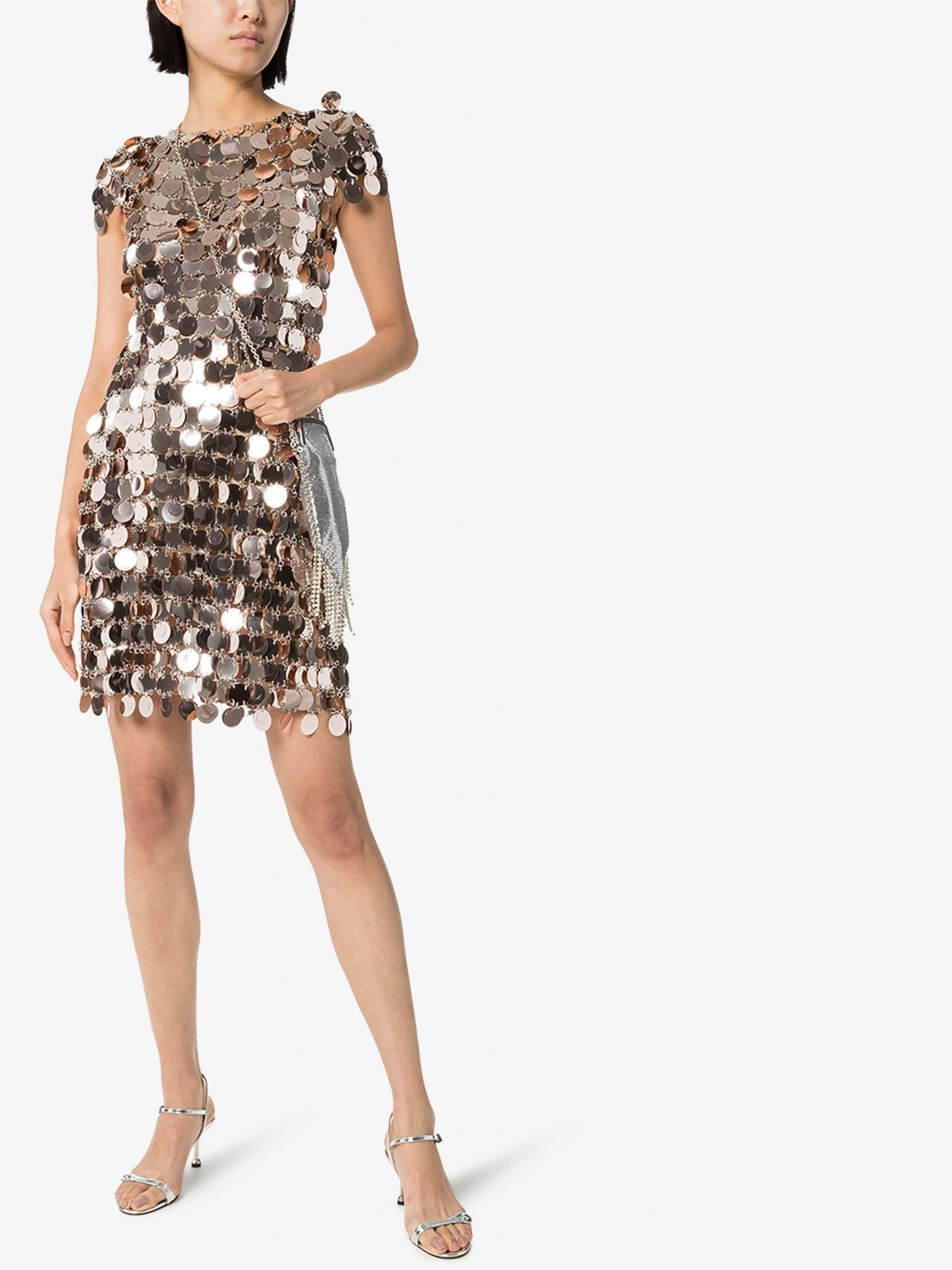 PACO RABANNE Sequin Embellished Mini Dress