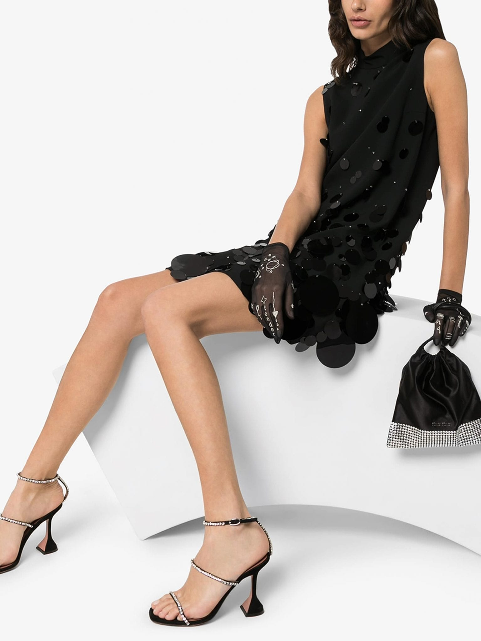 PRADA Turtleneck Sleeveless Mini Dress