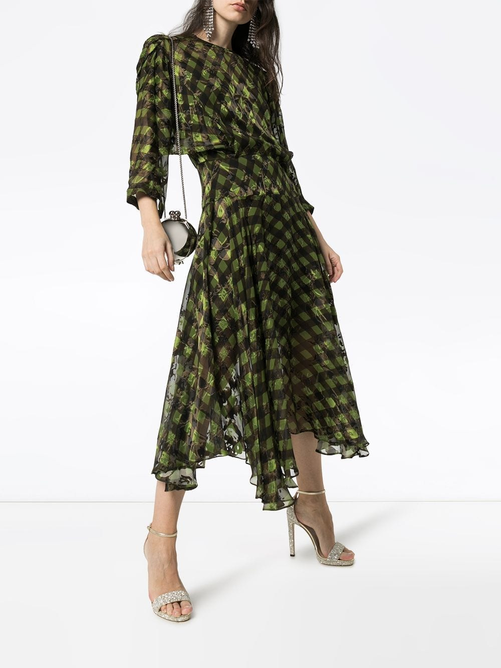 PREEN BY THORNTON BREGAZZI Brooke Gingham Midi Dress