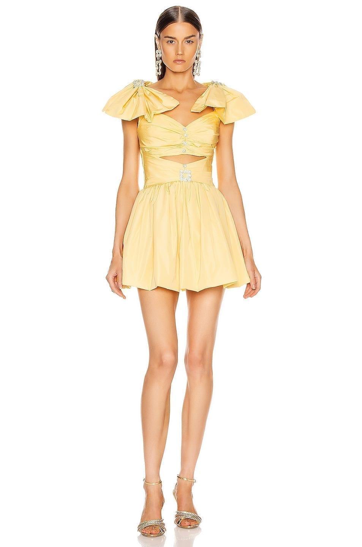 RAISA&VANESSA Ribbon Shoulder Mini Dress