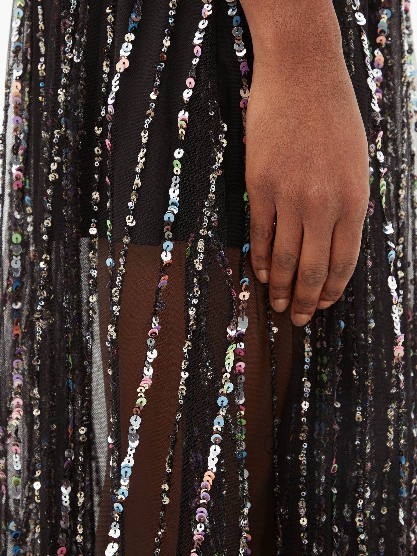 RASARIO Sequinned Tulle Dress