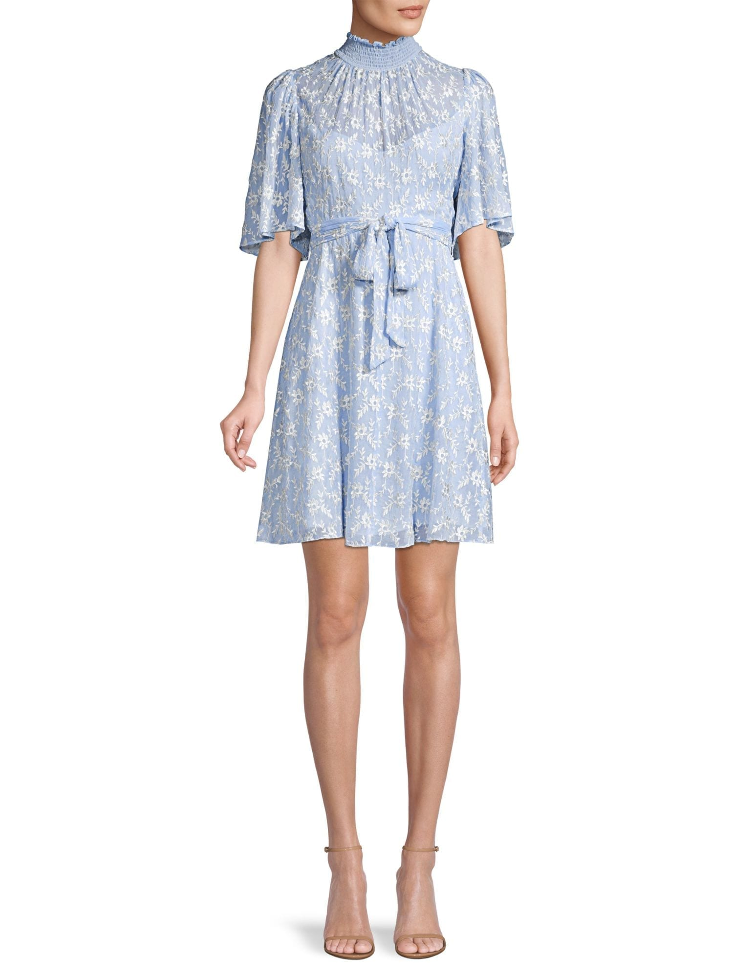REBECCA TAYLOR Vine Embroidered Dress