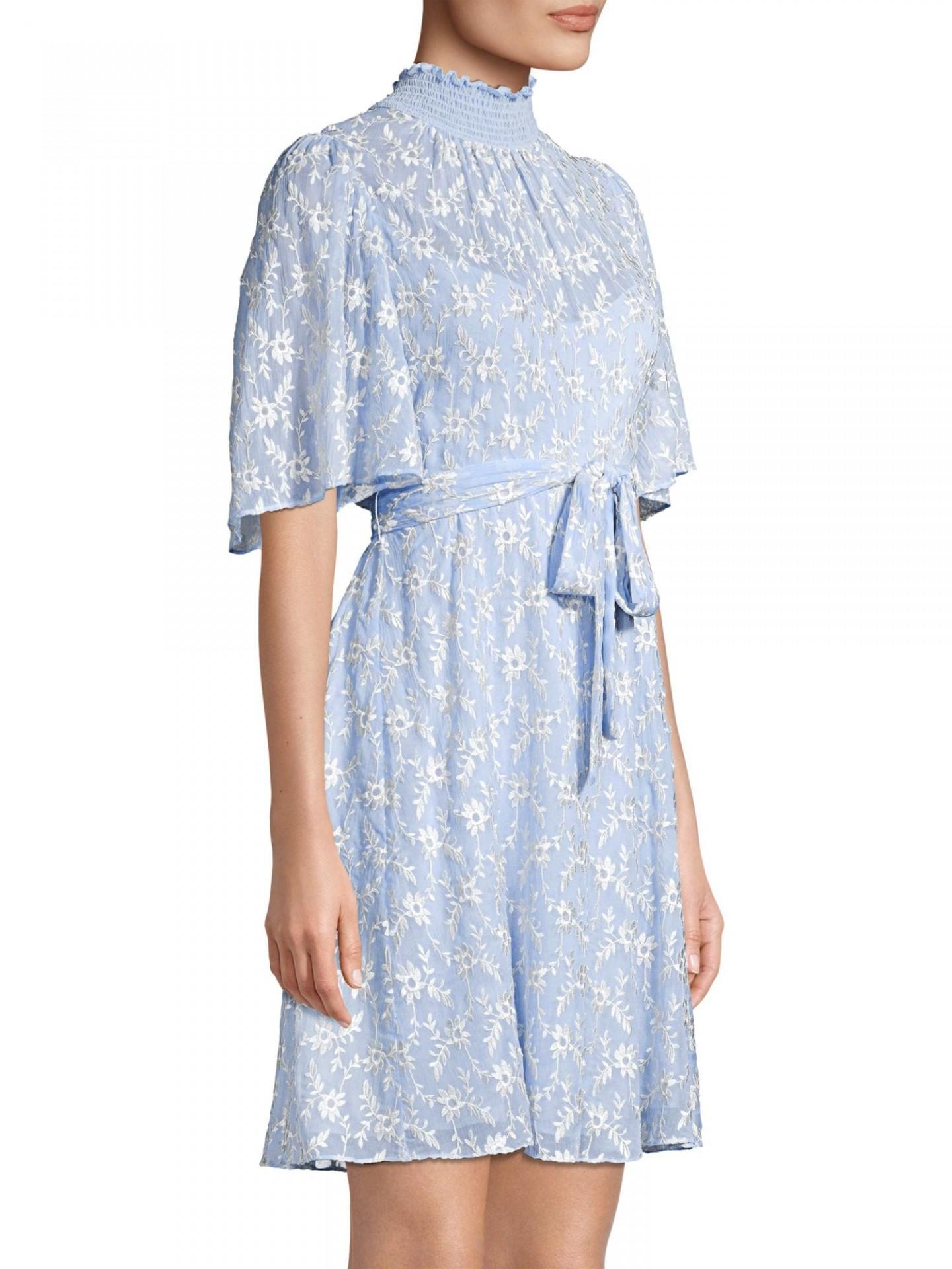 REBECCA TAYLOR Vine Embroidered Dress
