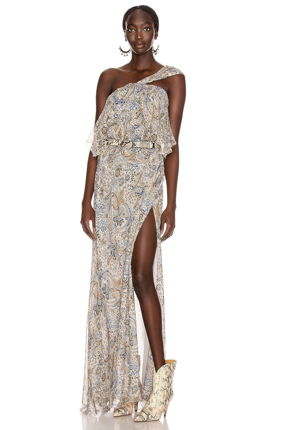 REDEMPTION Paisley Print Long Dress
