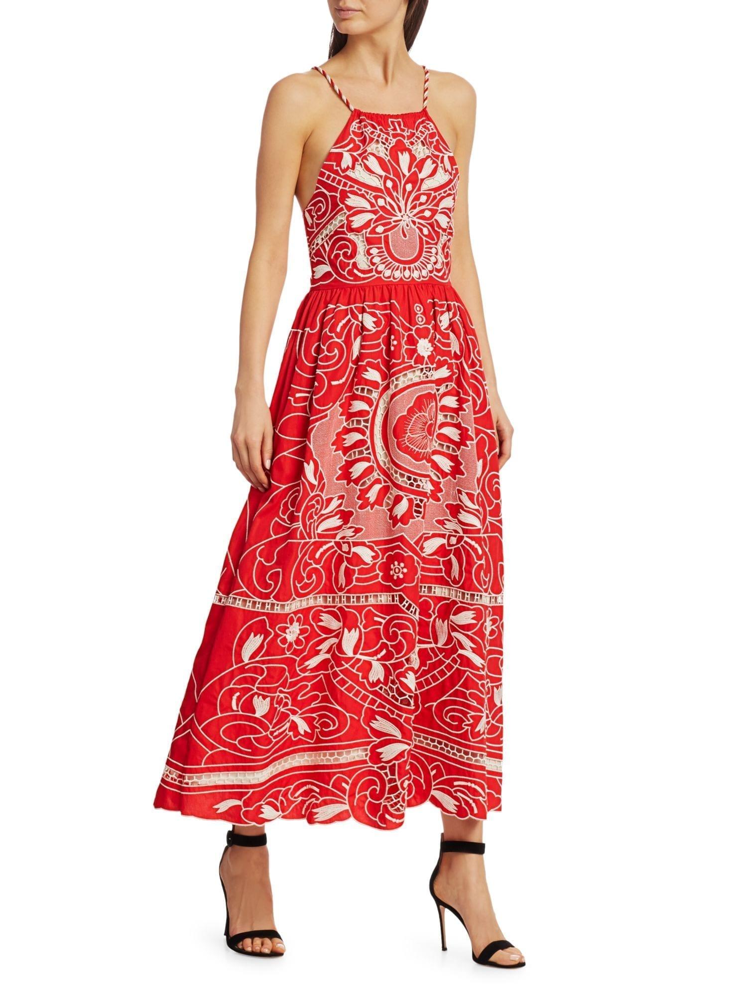 REDVALENTINO Poplin Embroidered Dress