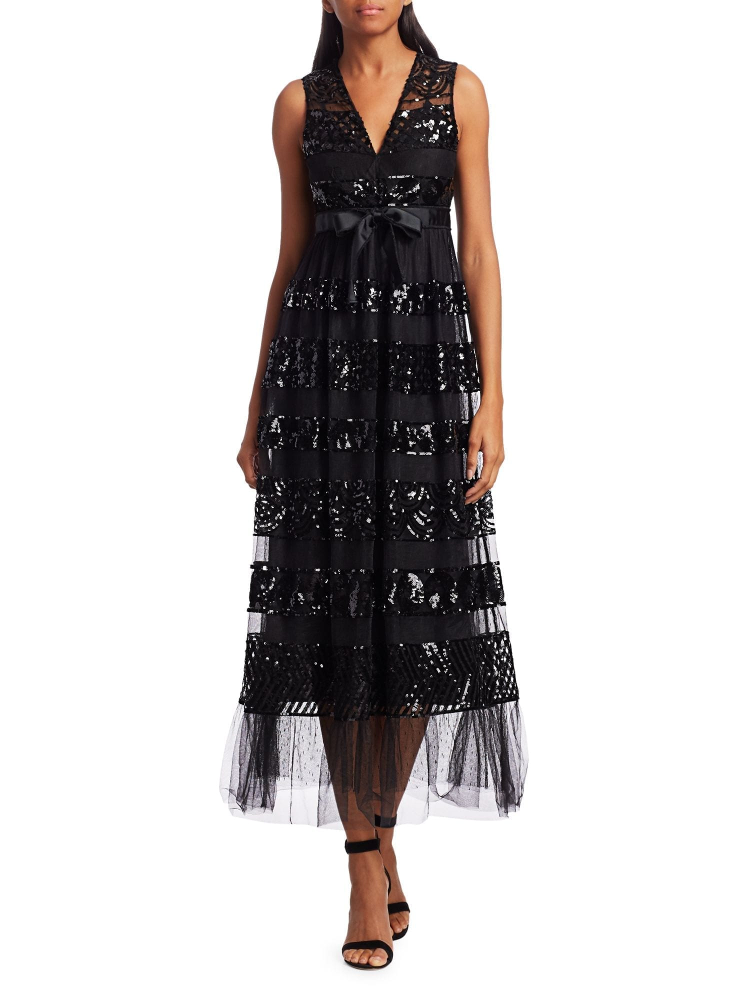 REDVALENTINO Sequin Tiered Tulle Dress