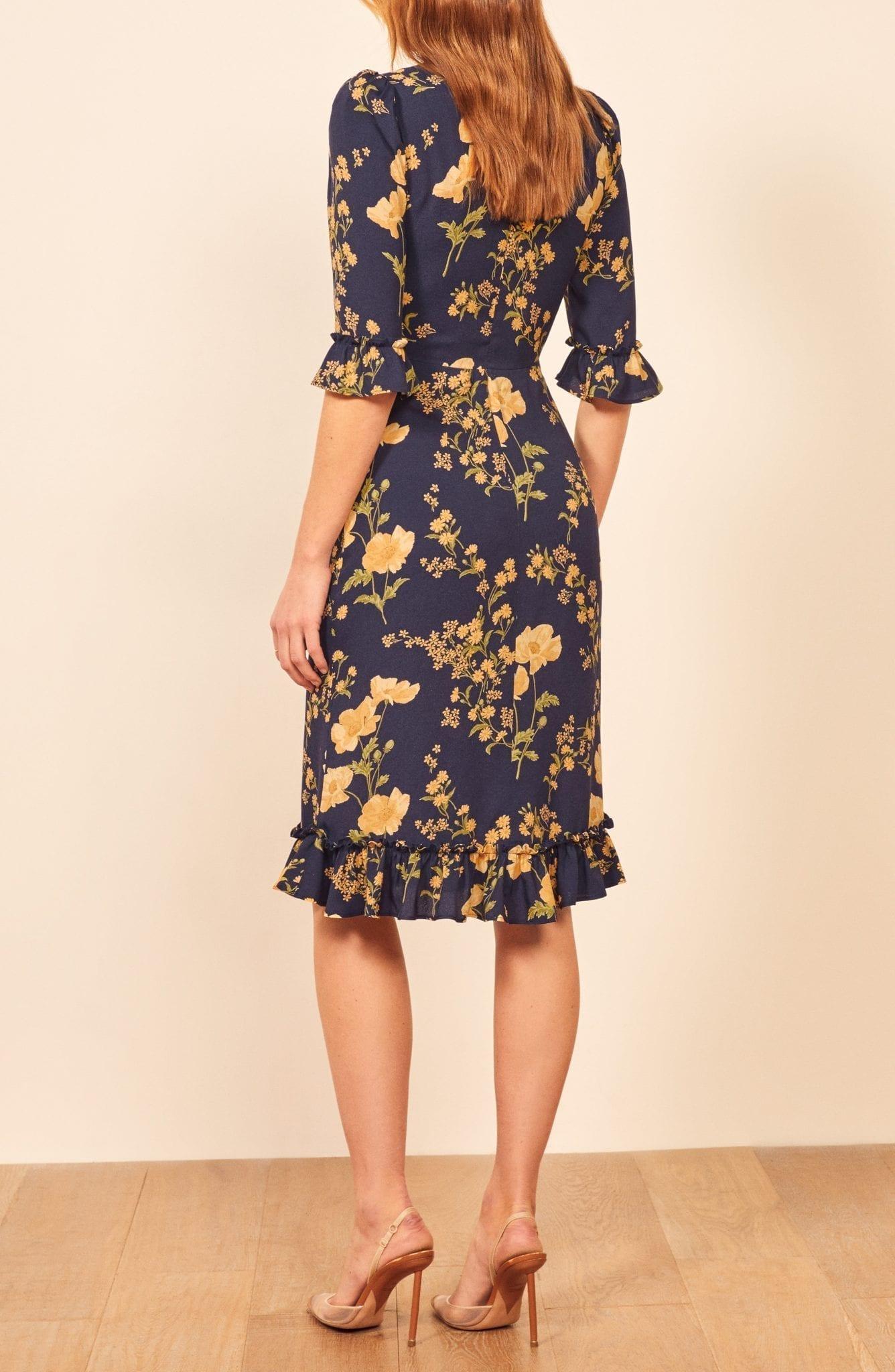 REFORMATION Hansel Floral Sheath Dress
