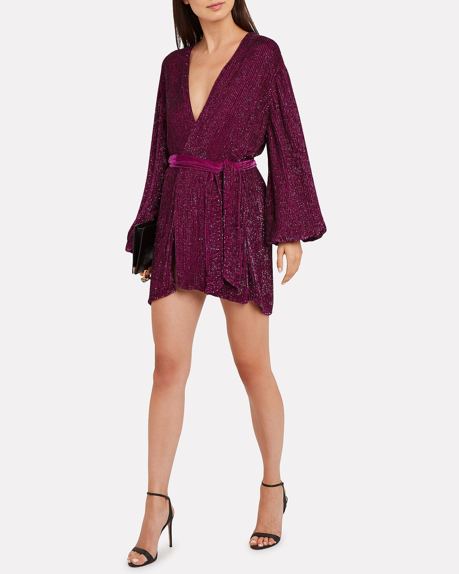 RETROFÊTE Gabrielle Sequin Mini Dress