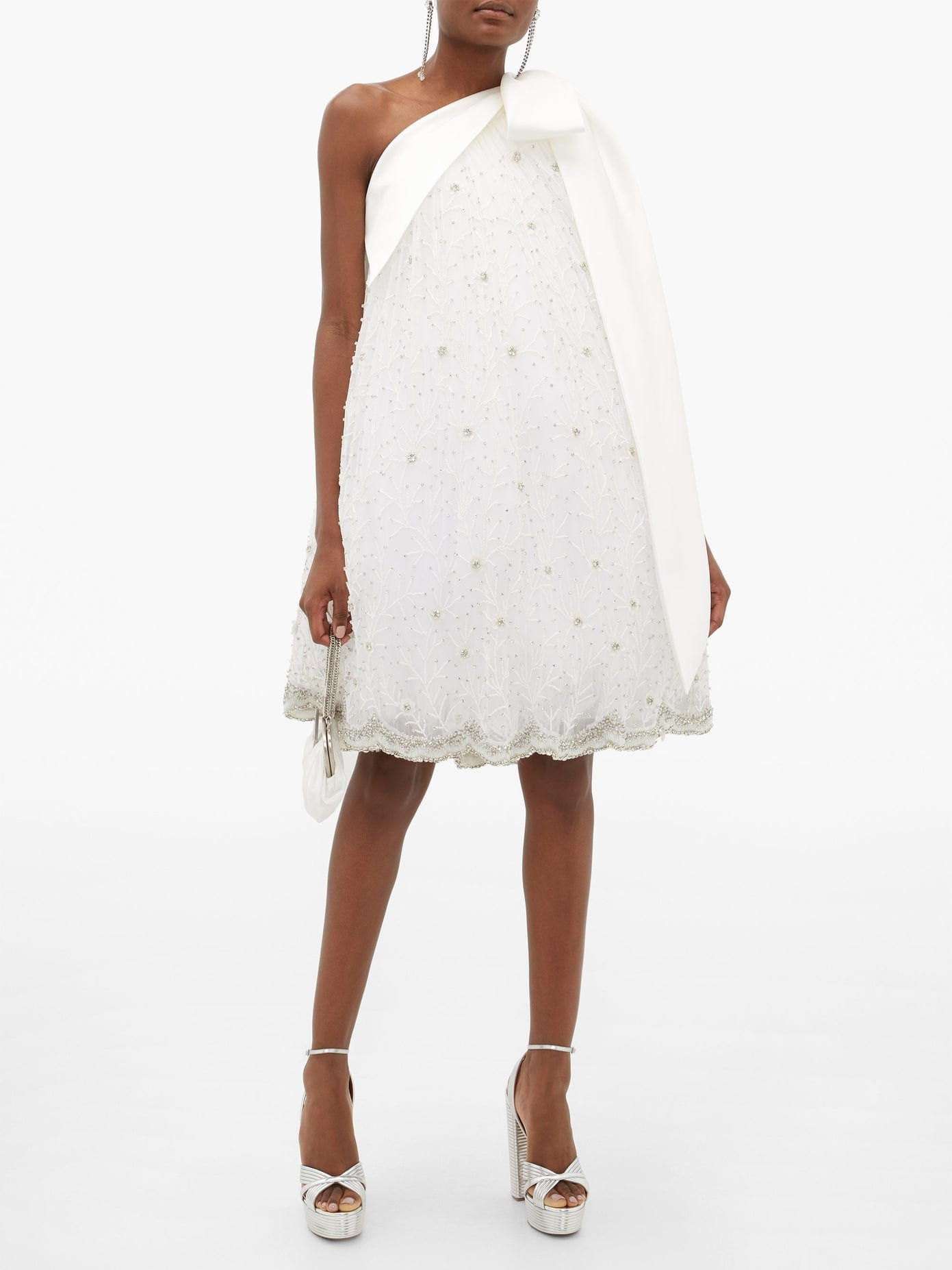 RICHARD QUINN One-shoulder Crystal-embellished Tulle Dress