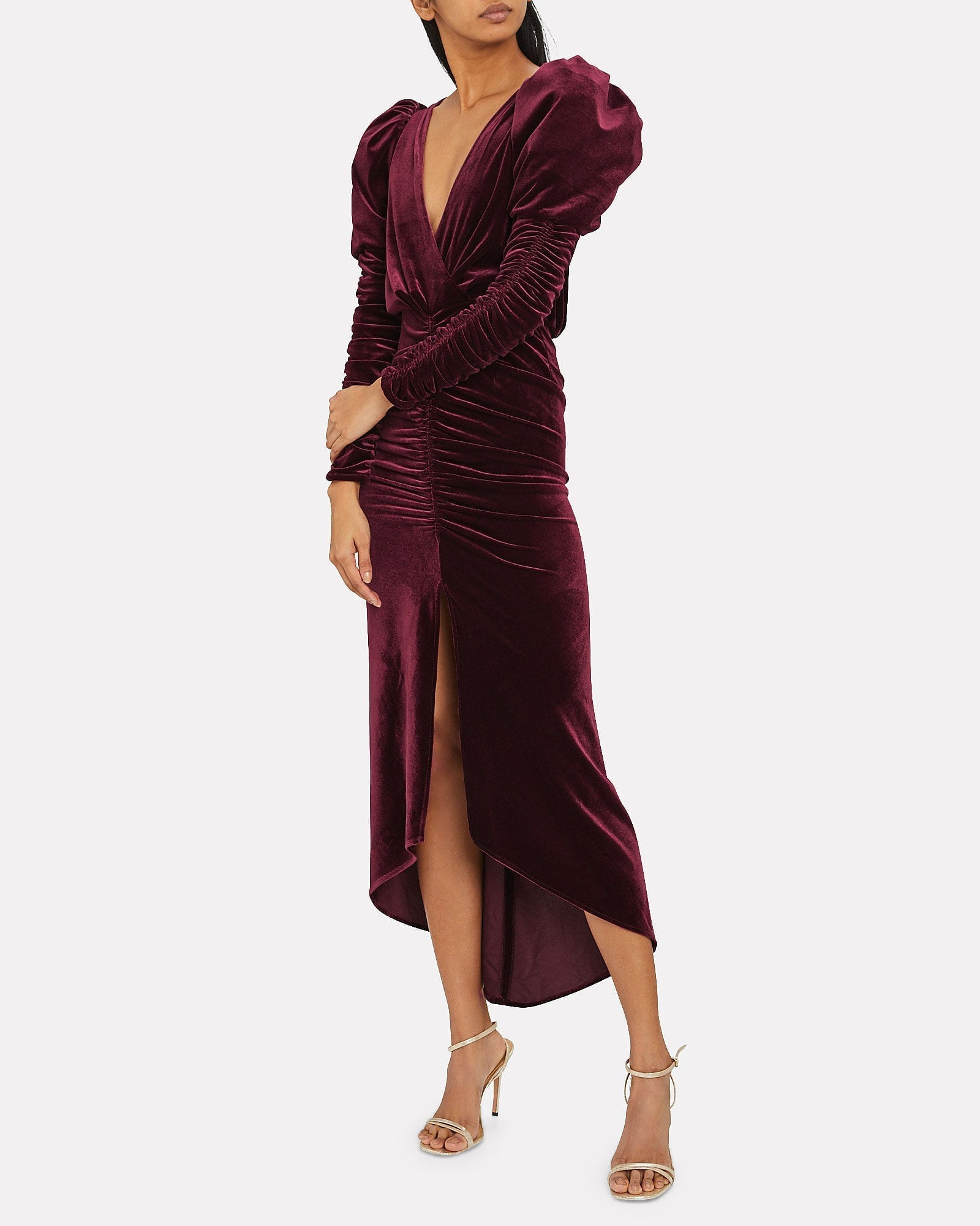 RONNY KOBO Alicia Velvet Midi Dress