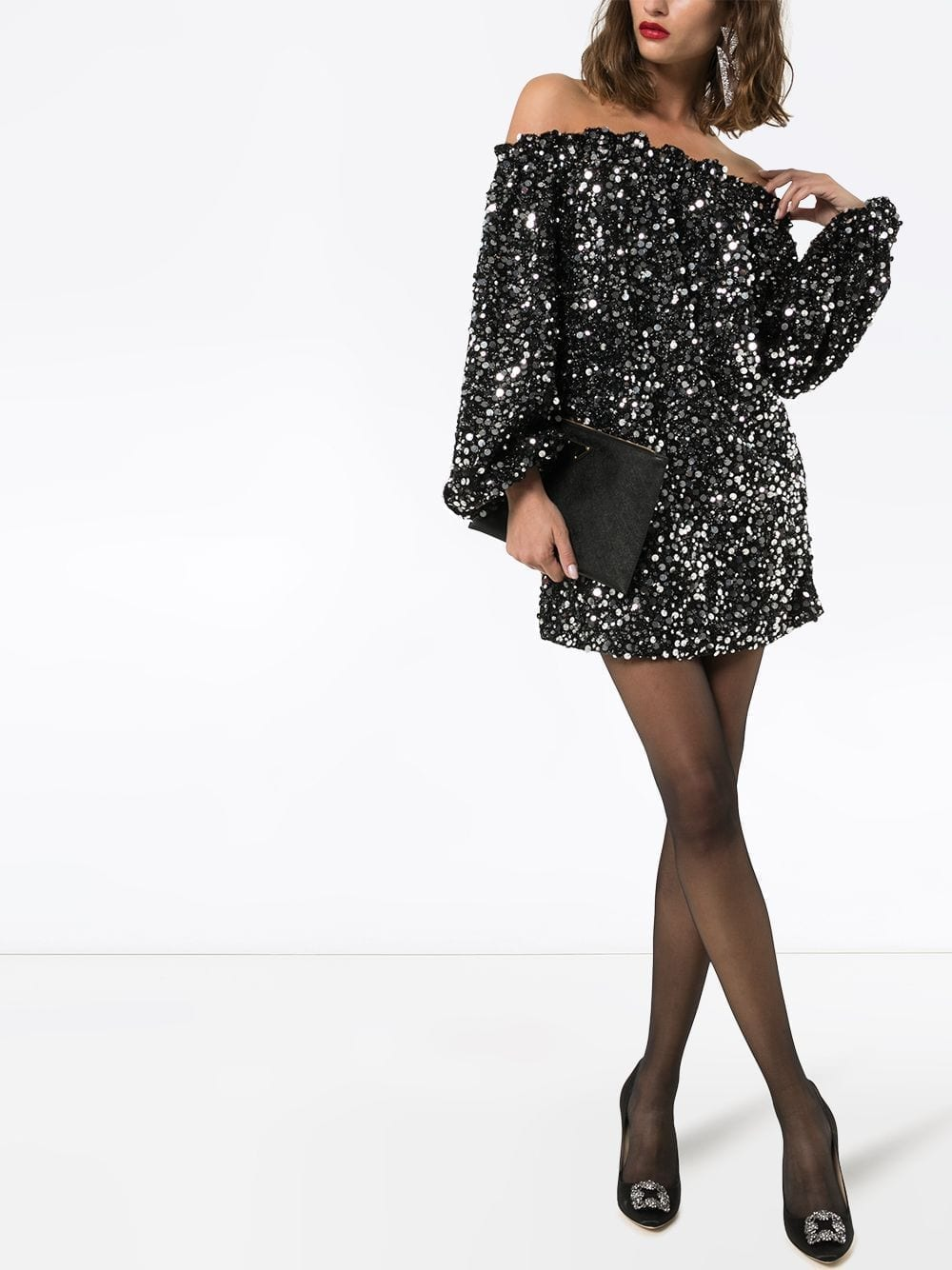 ROTATE Gloria Sequinned Mini Dress