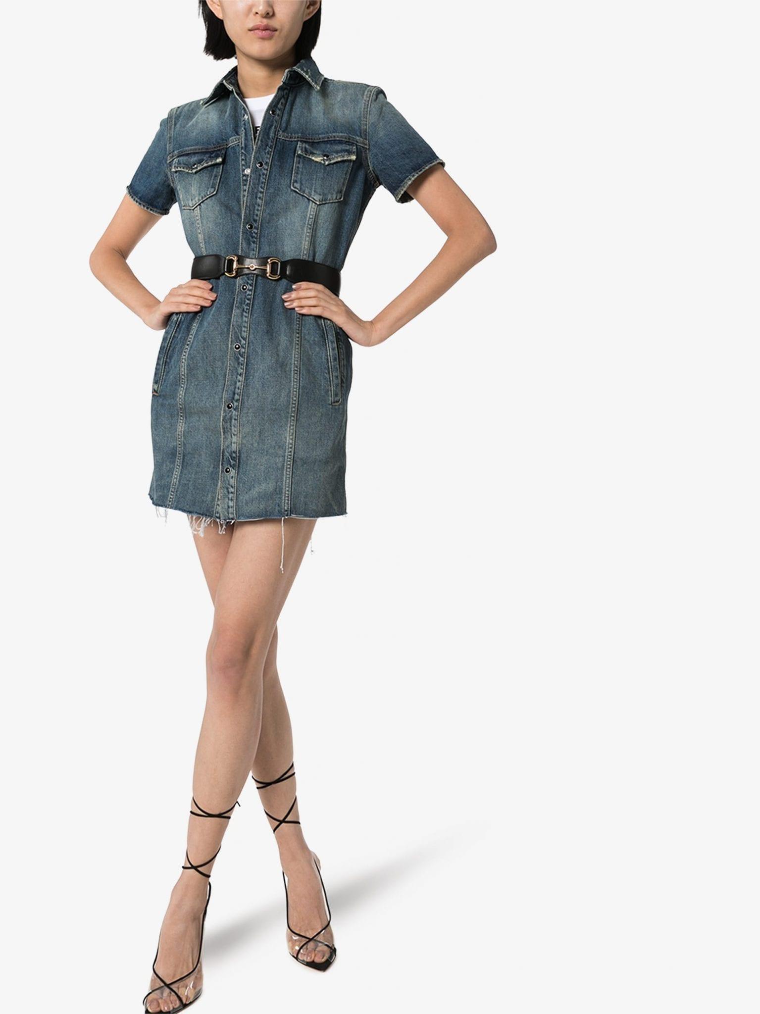 SAINT LAURENT Minikleid In Distressed-Optik Dress