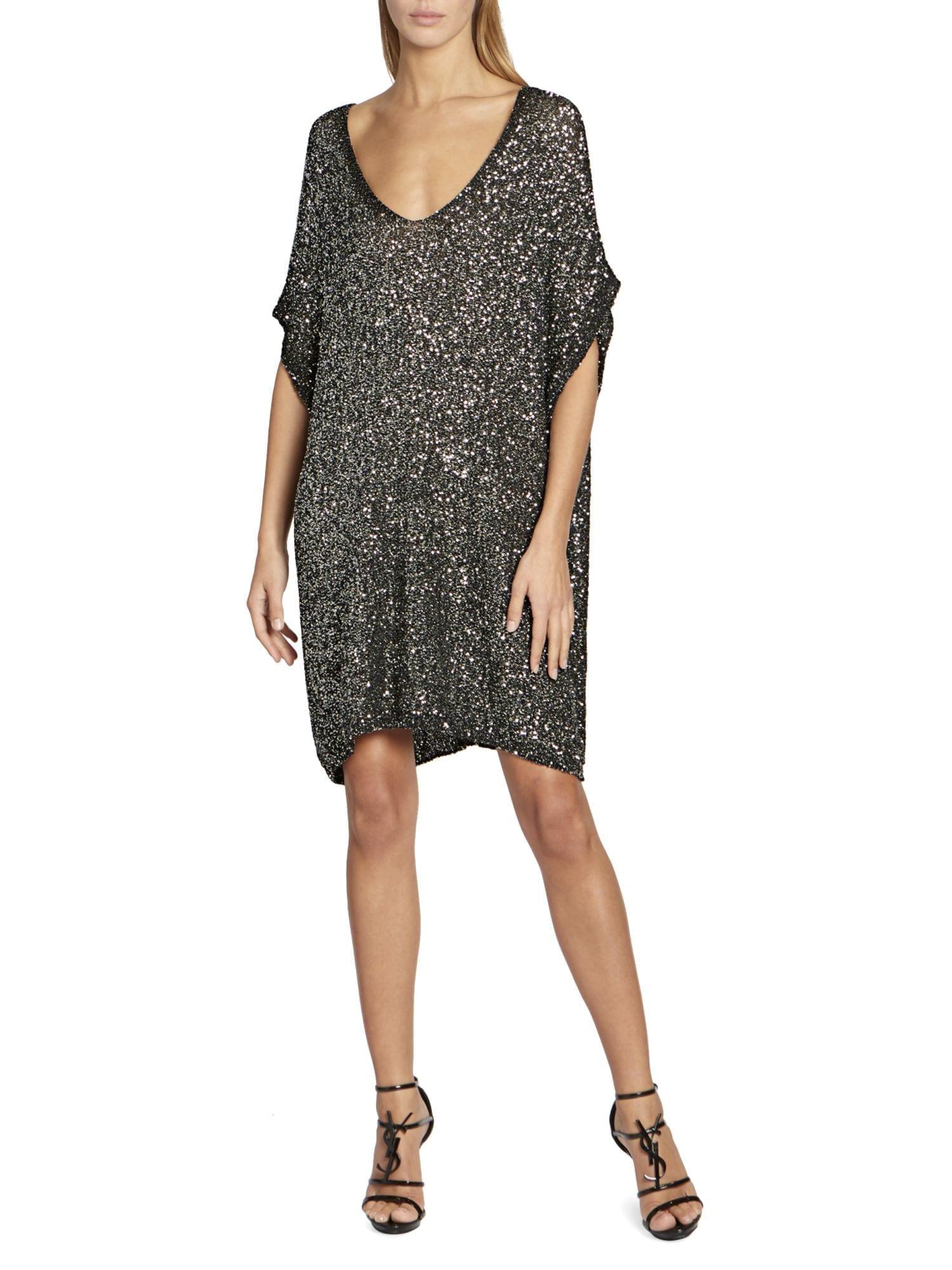 SAINT LAURENT Sequin Caftan Dress