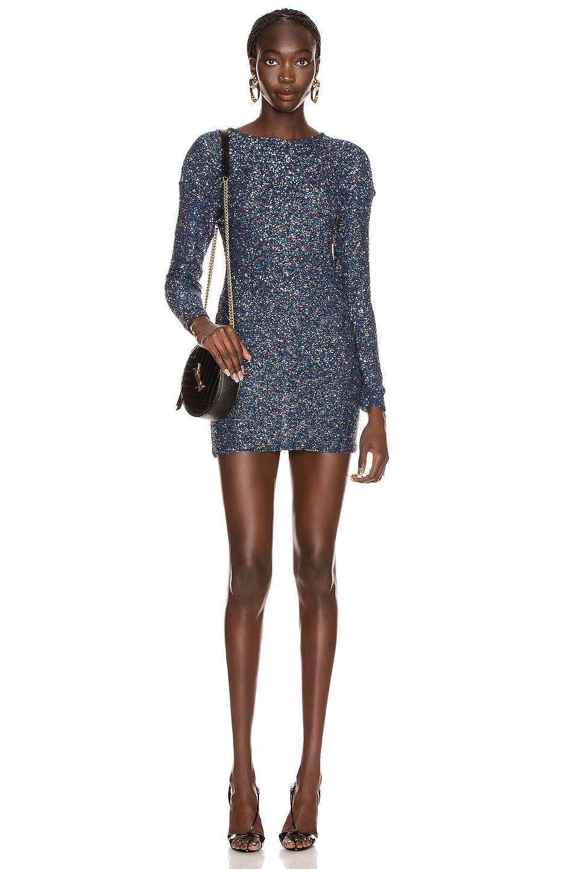 SAINT LAURENT Sequin Mini Dress