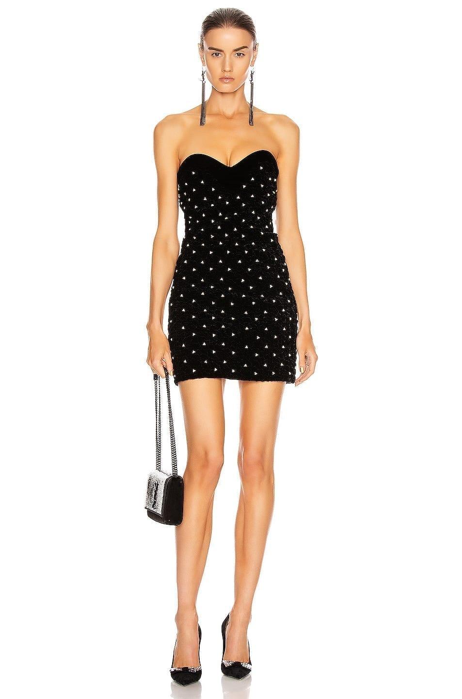 SAINT LAURENT Sweetheart Mini Dress