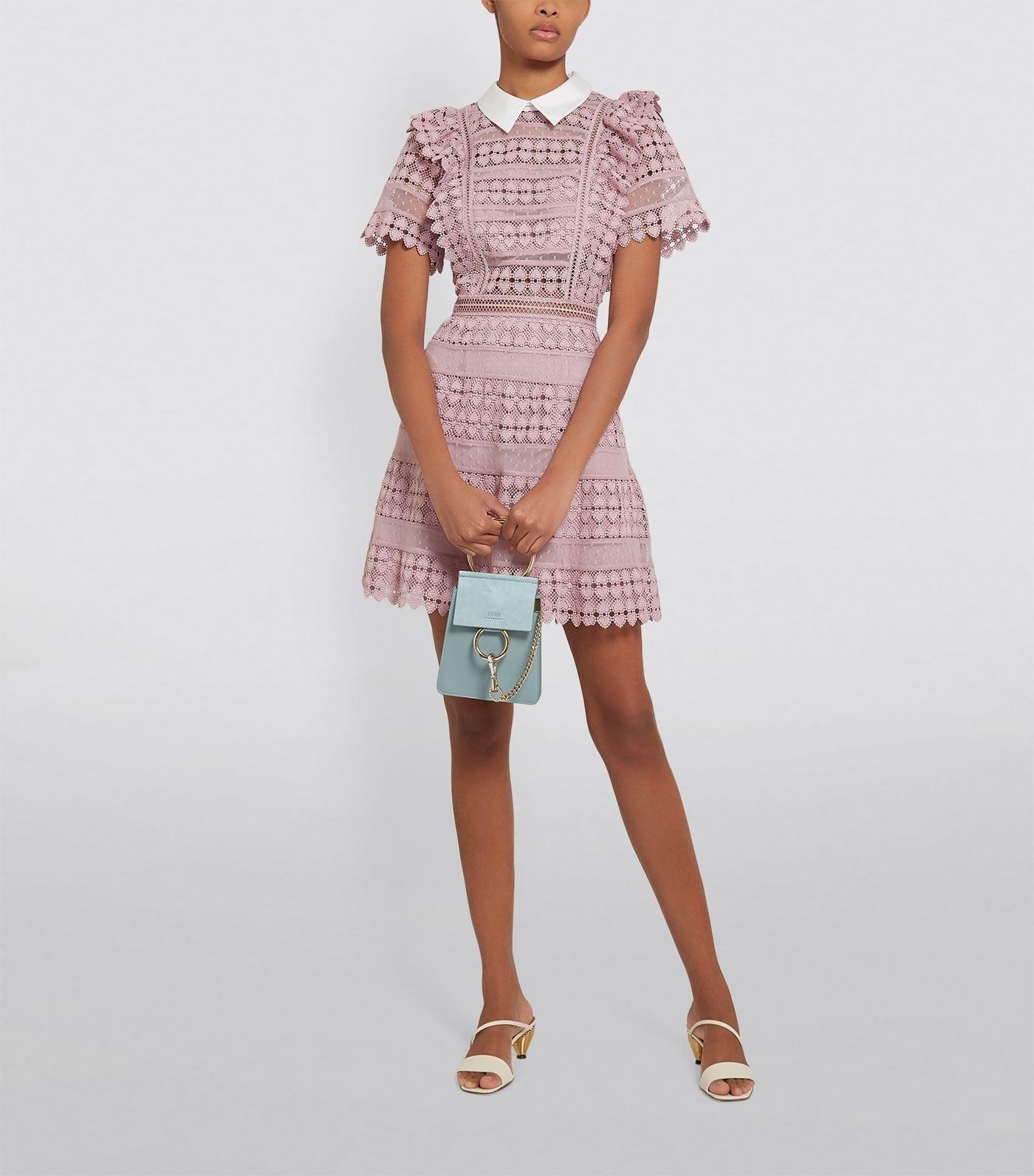 SELF-PORTRAIT Heart Lace Midi Dress
