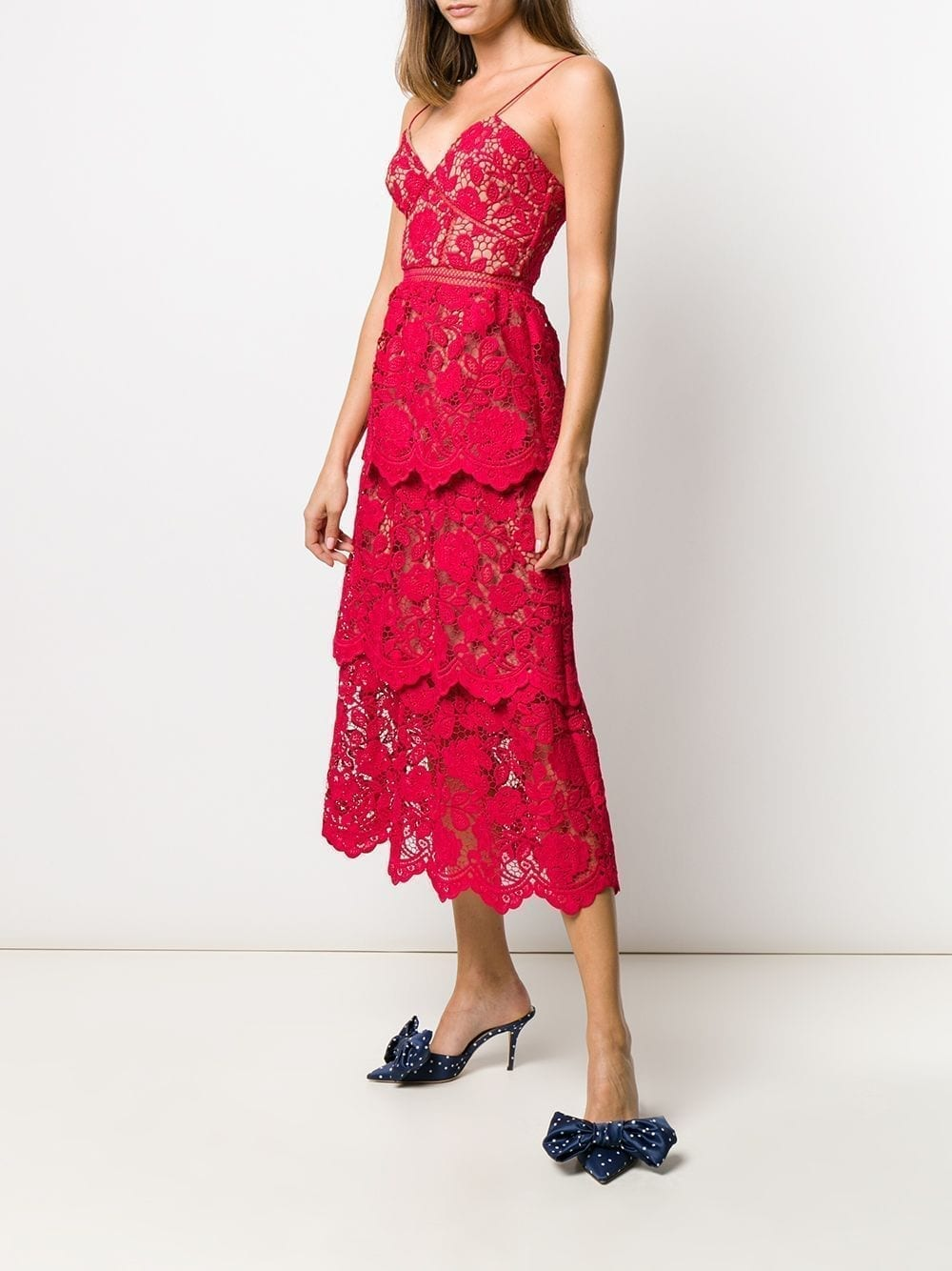 SELF-PORTRAIT Lace Midi Dress