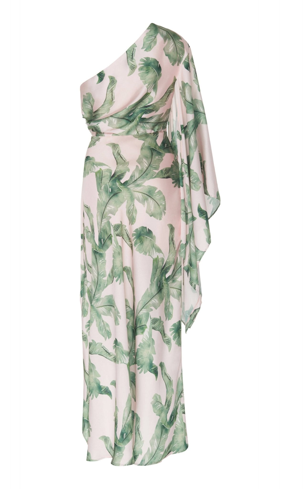 Significant Other Caspian Printed One Shoulder Midi Dress