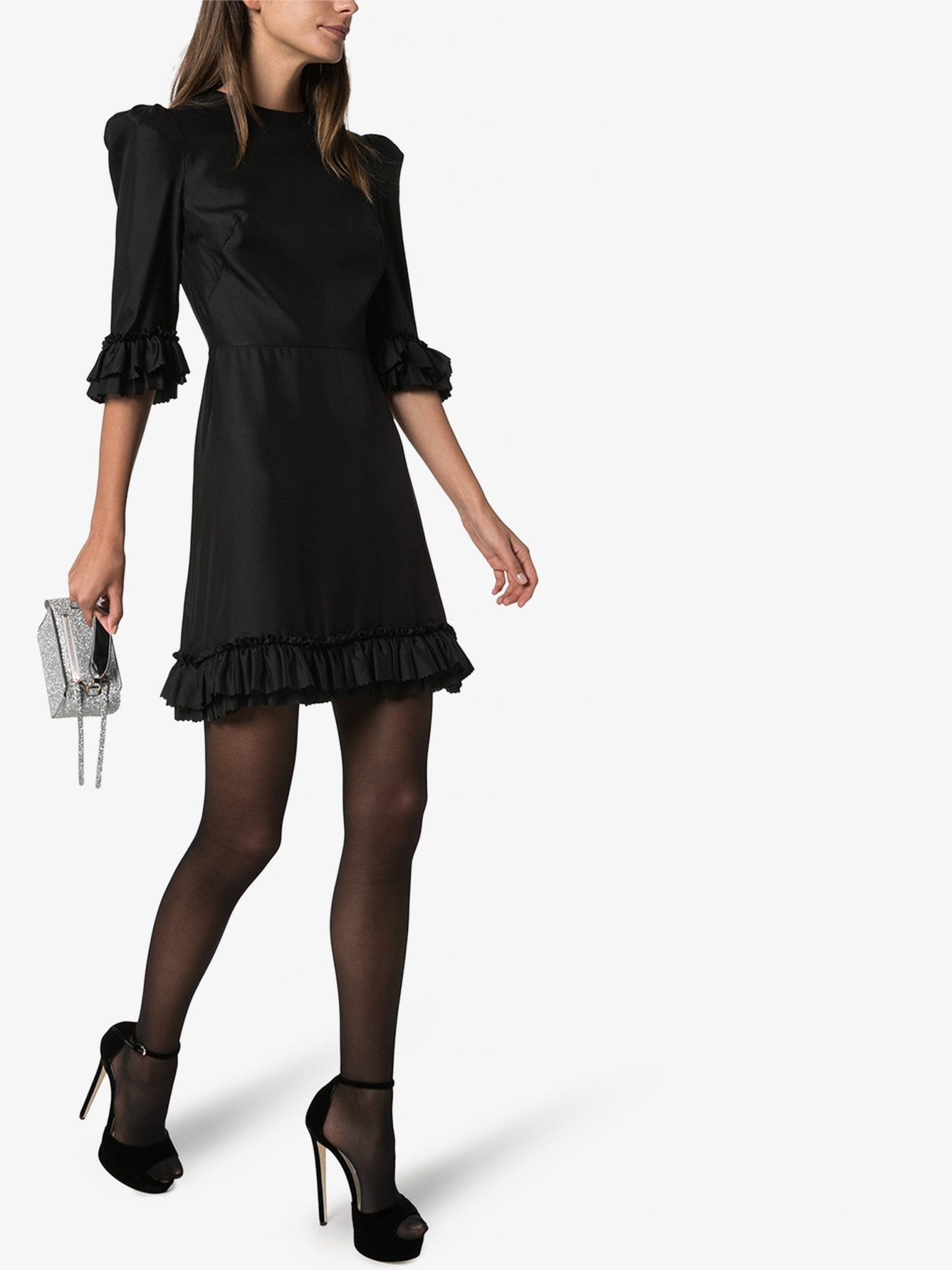 THE VAMPIRE'S WIFE Festival Frilled Silk Mini Dress