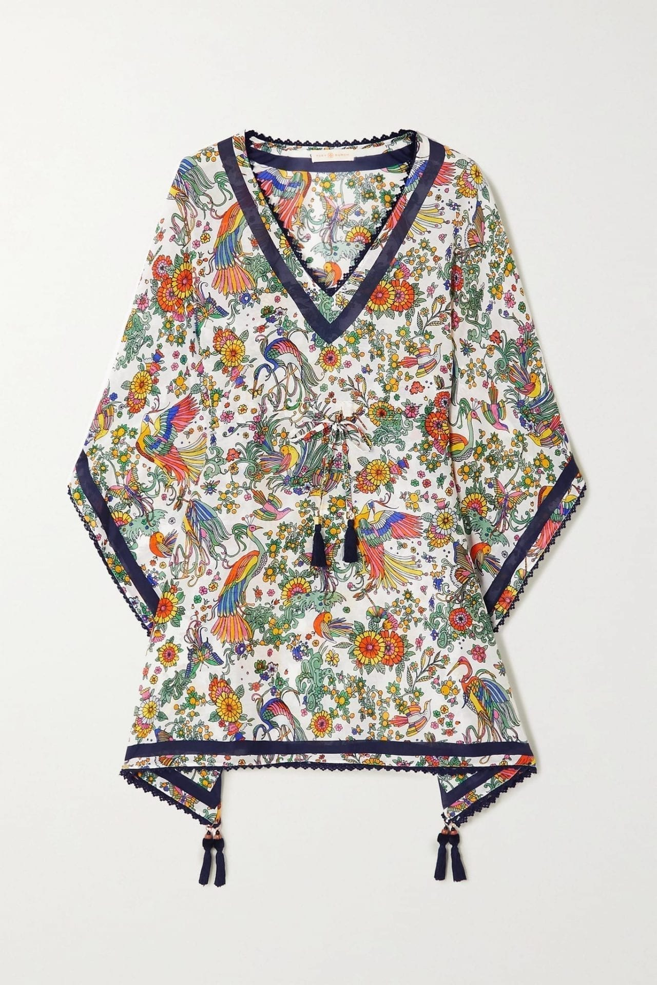 TORY BURCH Printed Cotton And Silk-blend Voile Dress