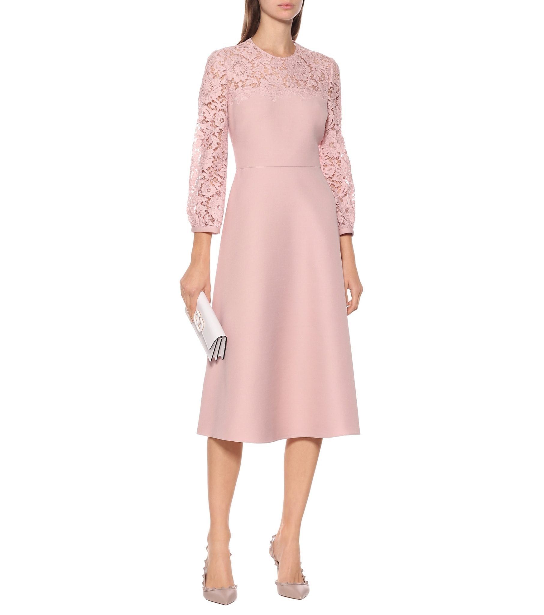 VALENTINO Lace And Crêpe Dress