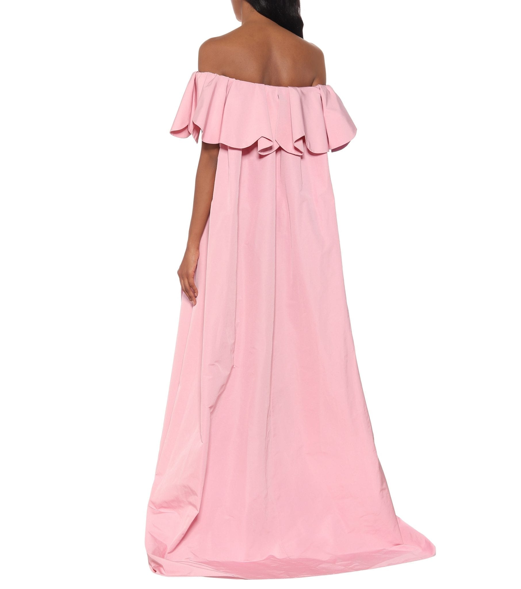 VALENTINO Off-the-shoulder Cape Gown