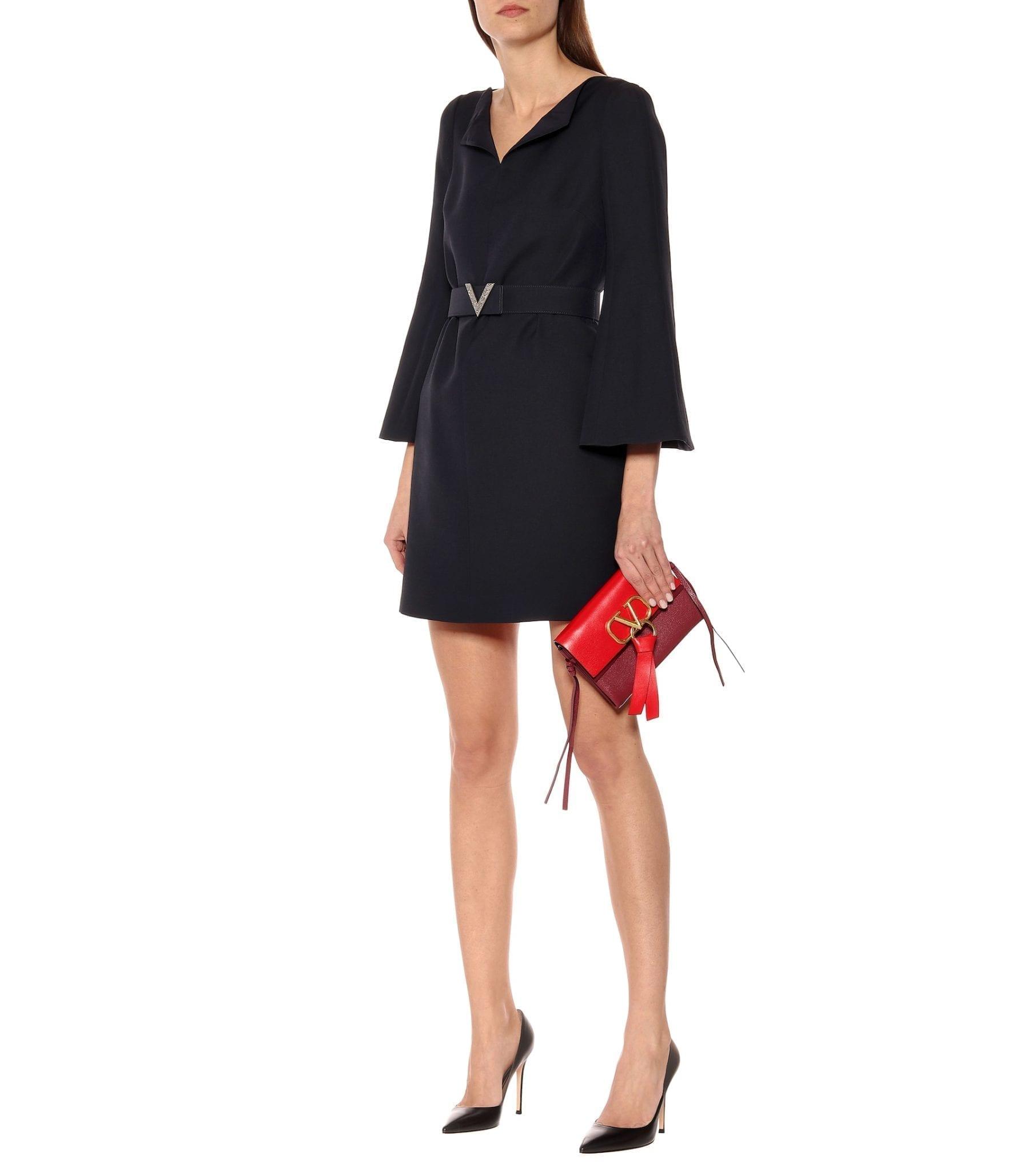 VALENTINO Wool And Silk Crêpe Mini Dress