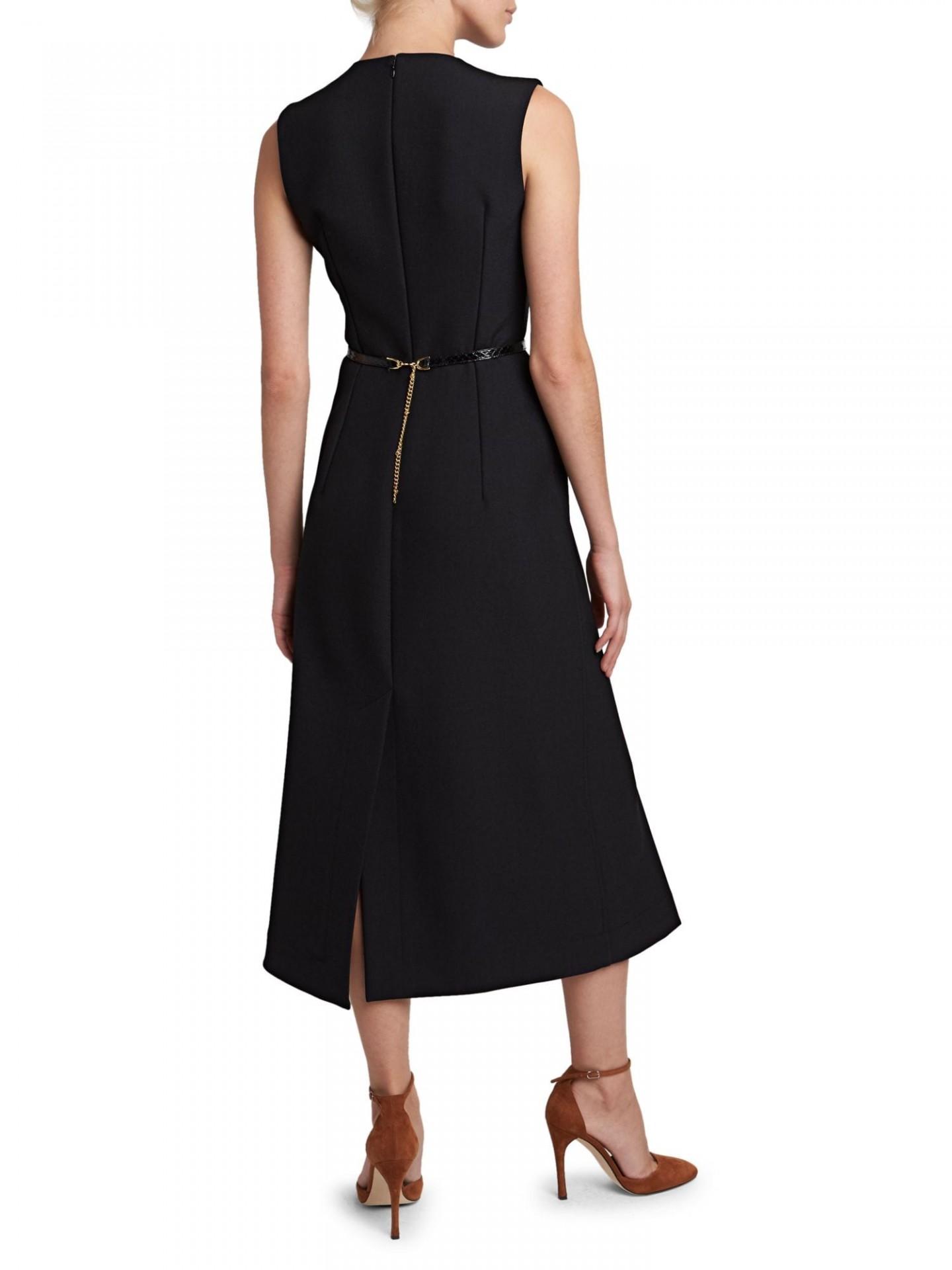 VICTORIA BECKHAM Belted Midi Dress