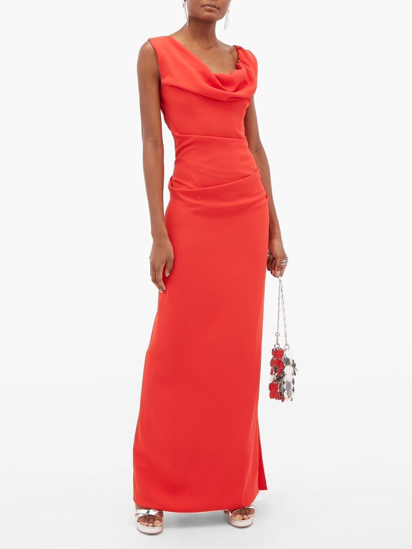 VIVIENNE WESTWOOD Ginnie Draped Crepe And Satin Gown