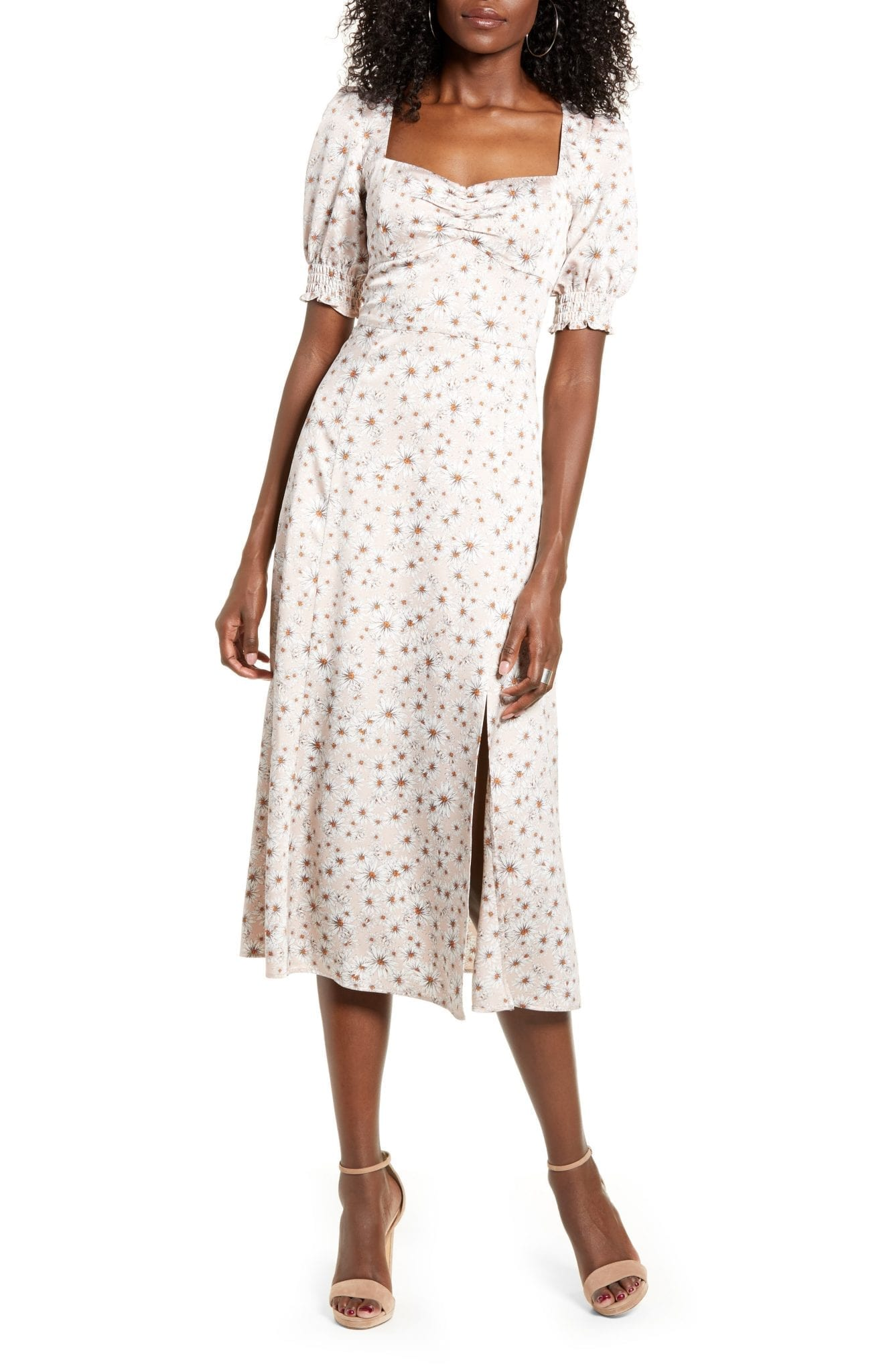 WAYF Beatrix Bustier Midi Dress