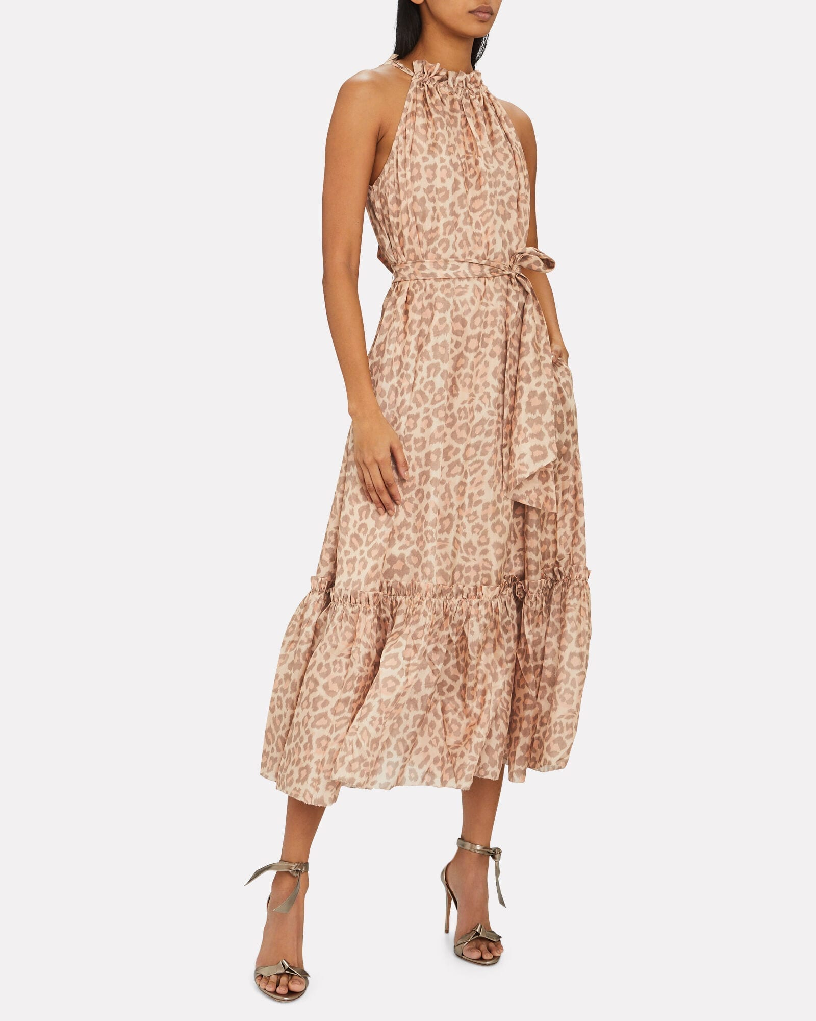 ZIMMERMANN Kirra Leopard Silk Chiffon Dress