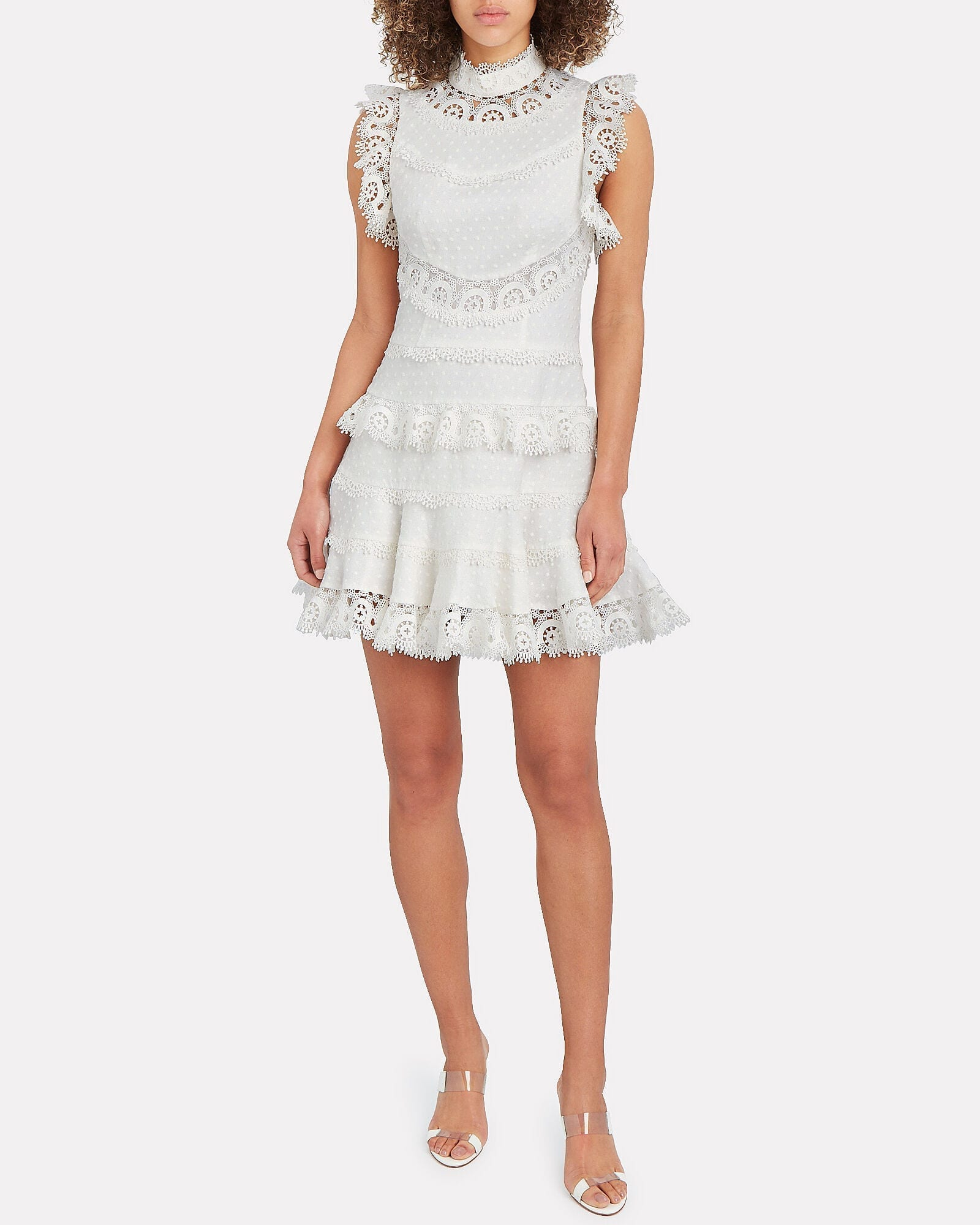 ZIMMERMANN Peggy Embroidered Mini Dress