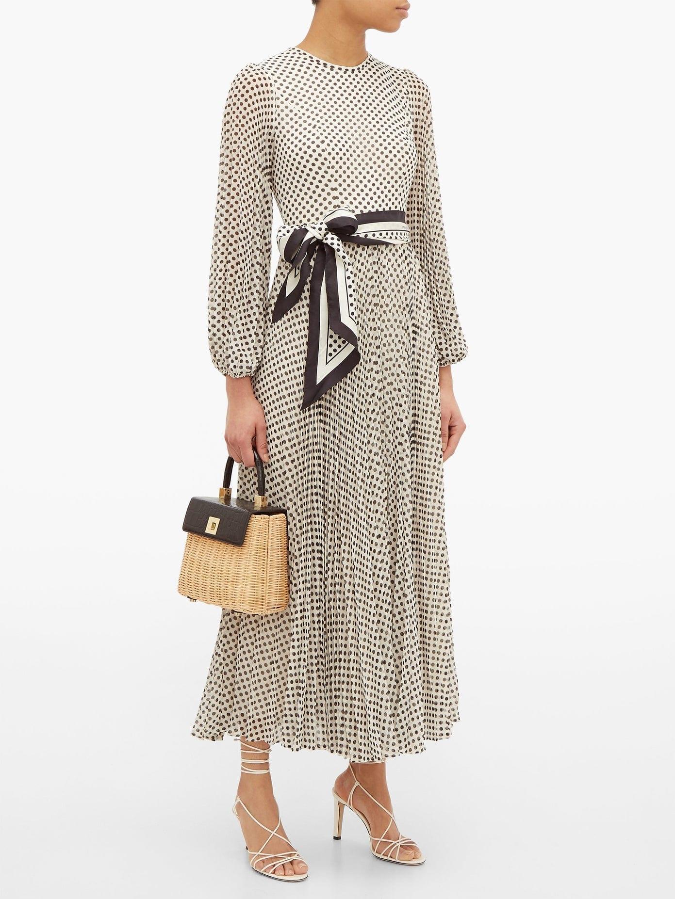 ZIMMERMANN Sunray Pleated Polka-dot Chiffon Dress