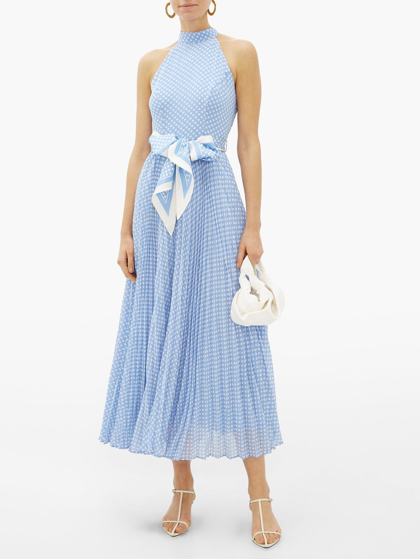 ZIMMERMANN Super Eight Halterneck Polka-dot Crepe Dress