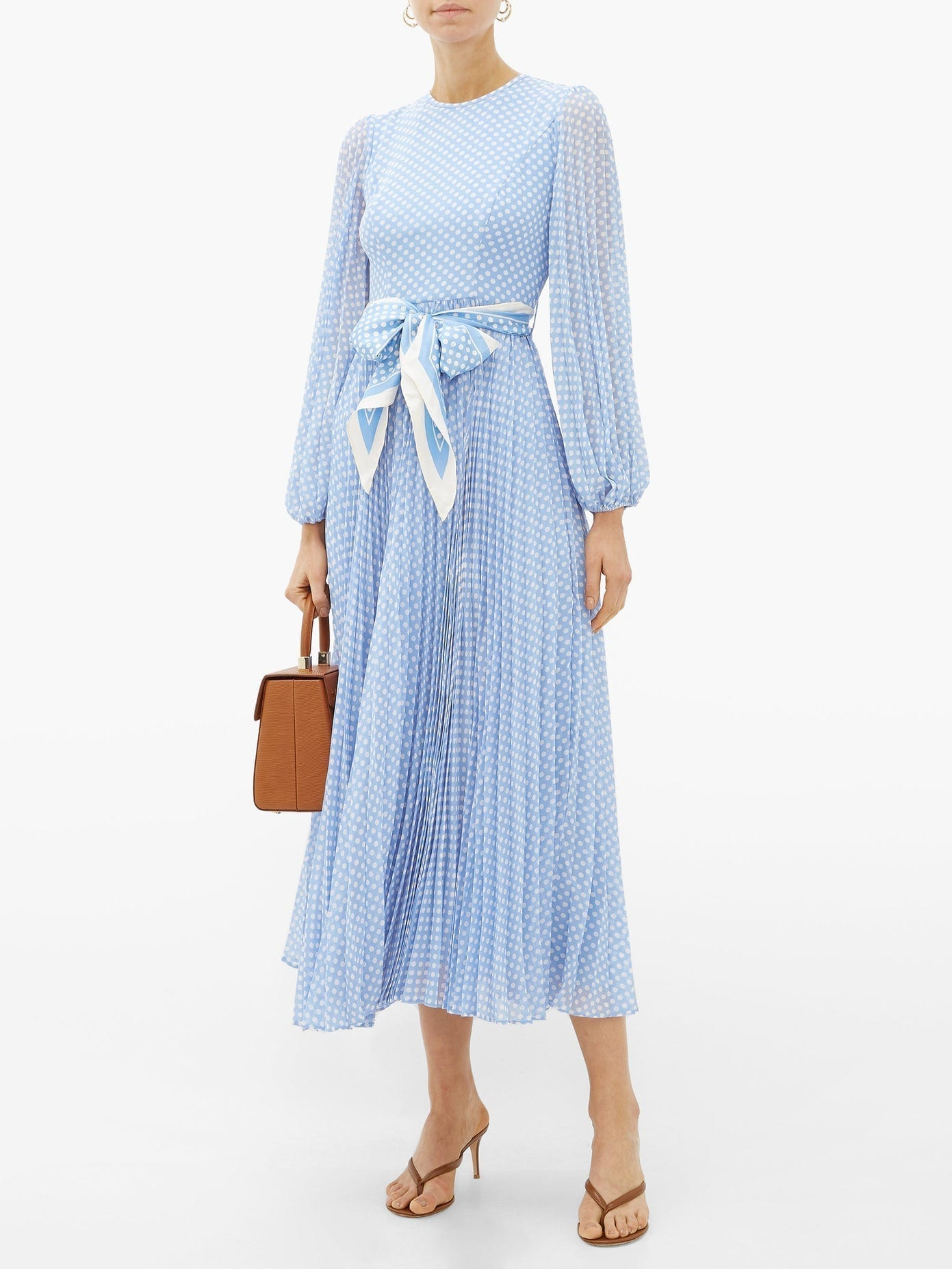 ZIMMERMANN Super Eight Polka-dot Print Crepe Midi Dress