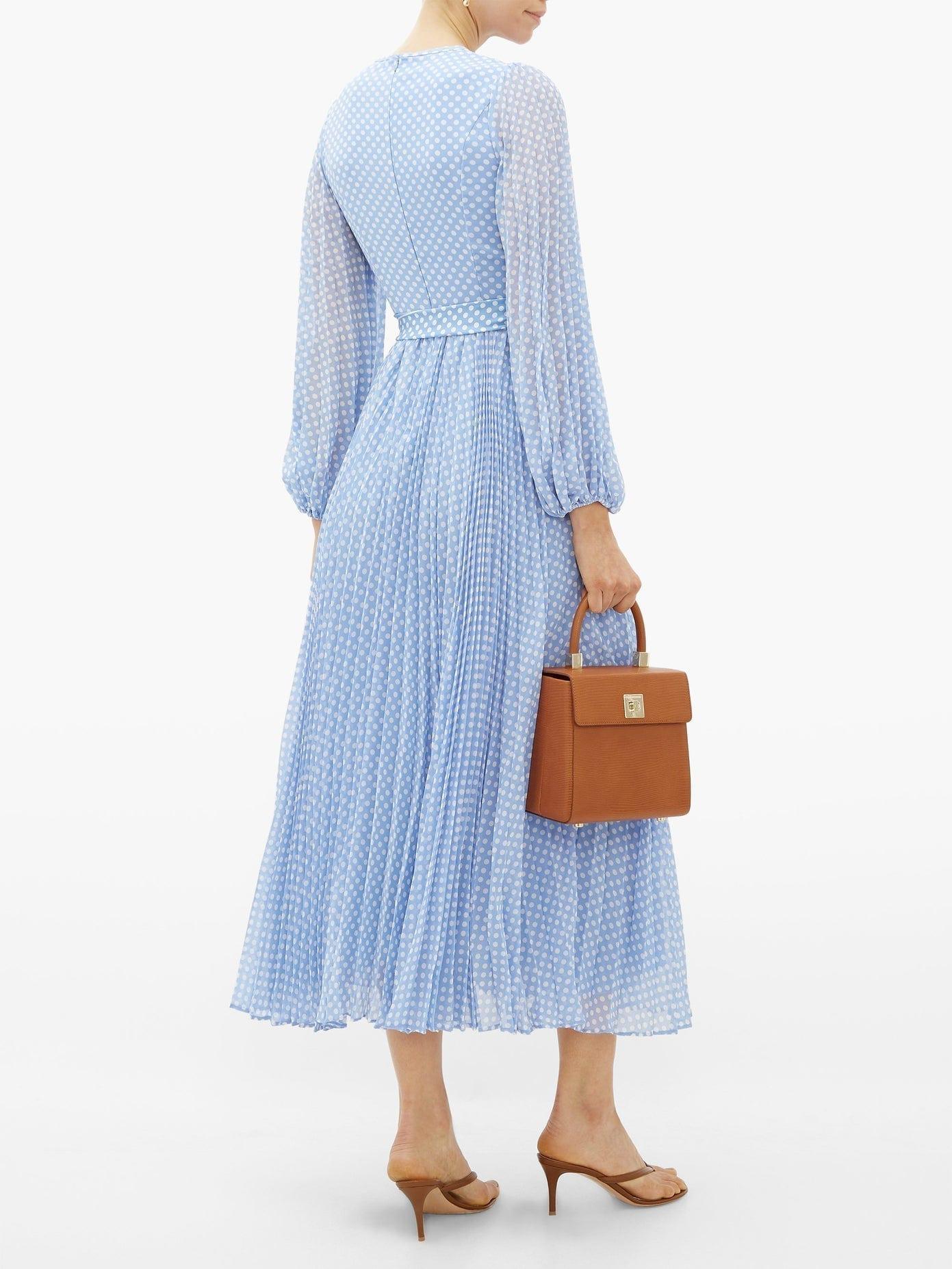 ZIMMERMANN Super Eight Polka-dot Print Crepe Midi Dress