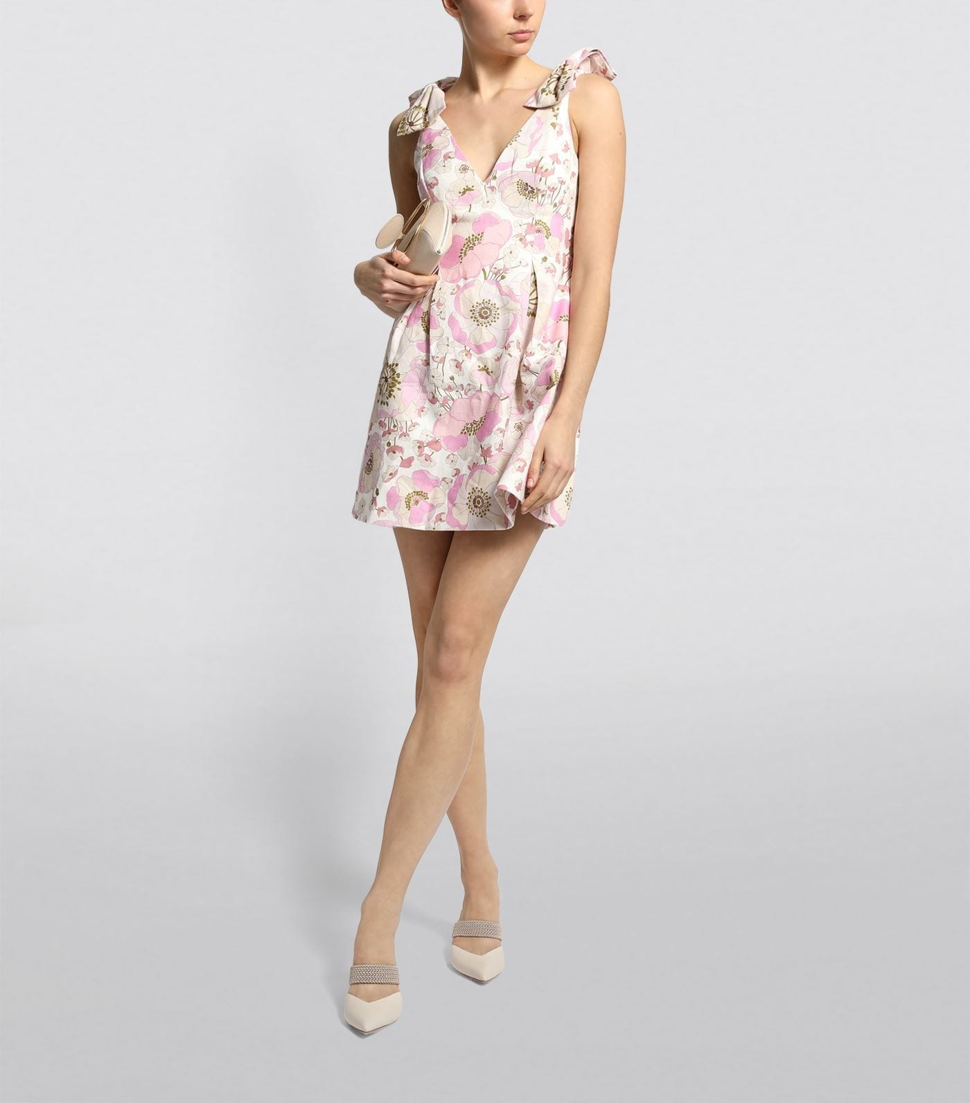 ZIMMERMANN Super Eight Ribbon Tie Dress