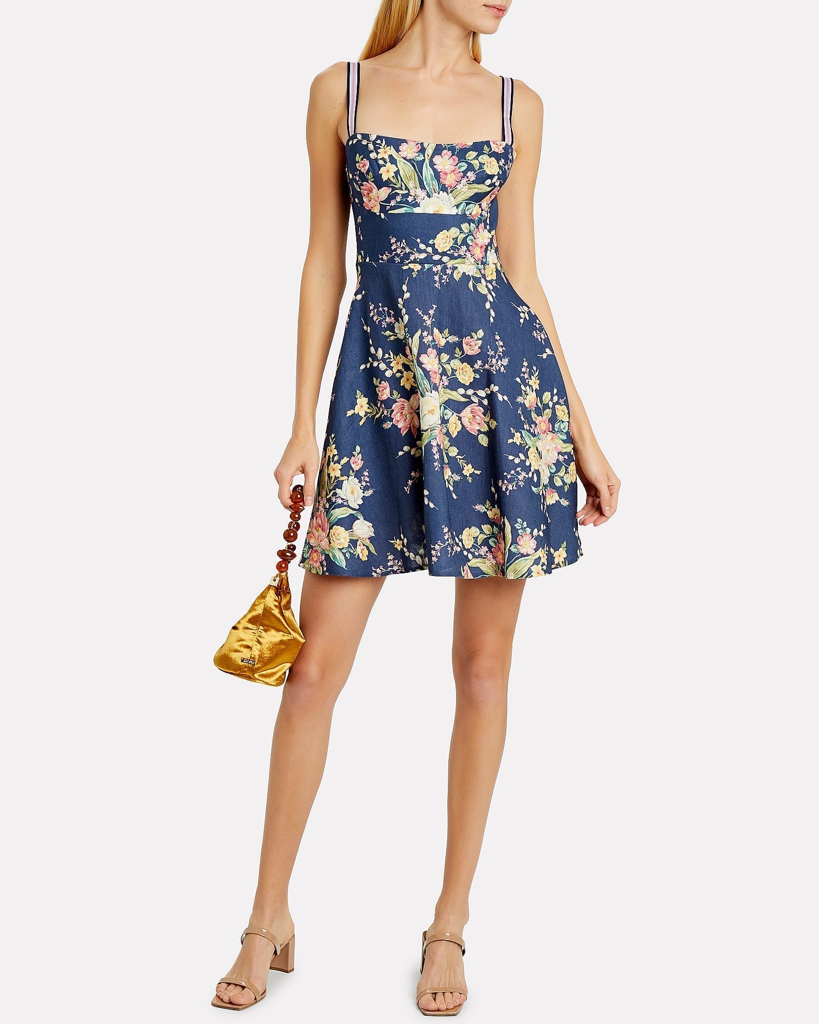 ZIMMERMANN Zinnia Linen Floral Sun Dress