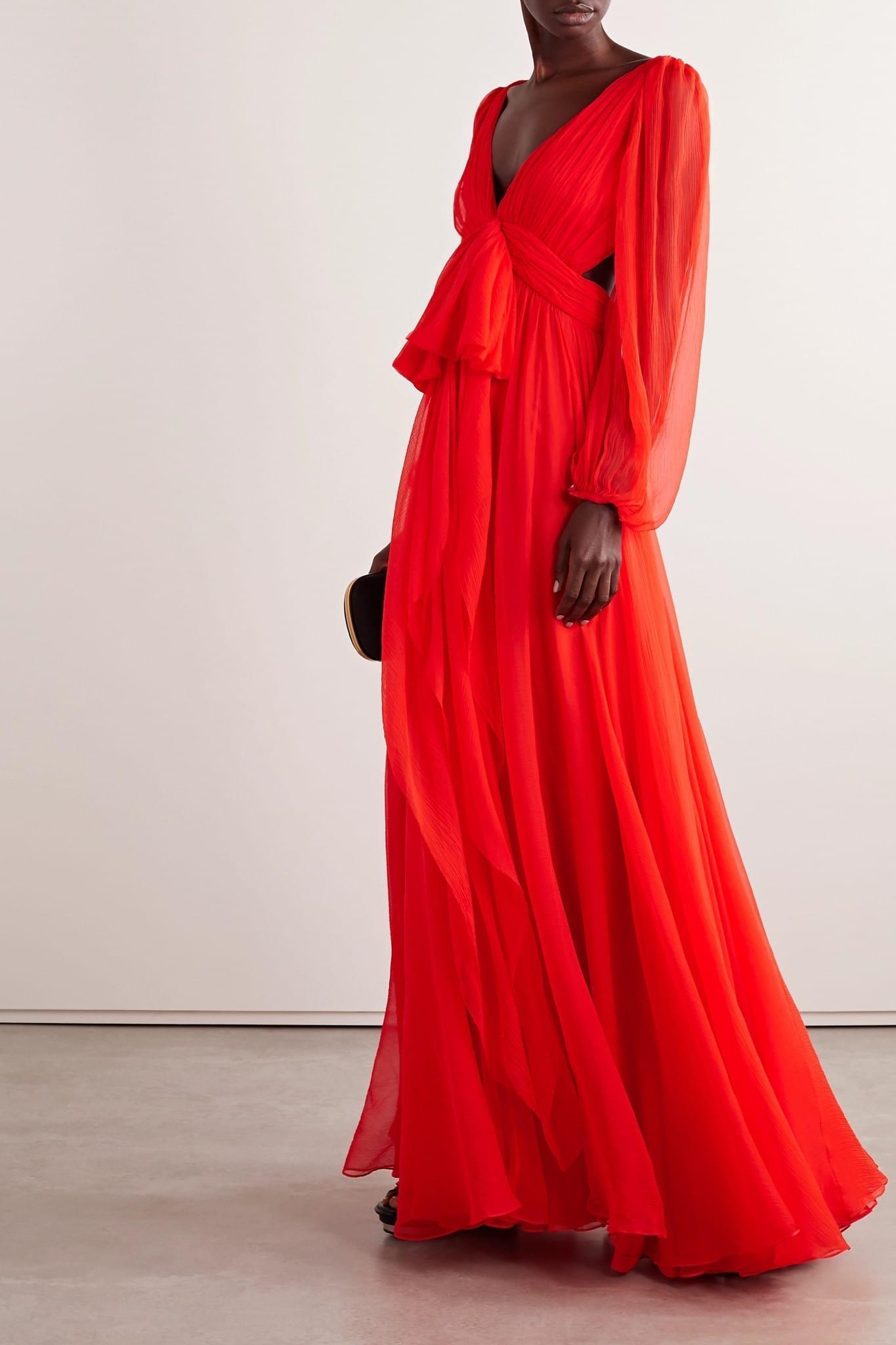 ALEXANDER MCQUEEN Cutout Silk-crepon Gown