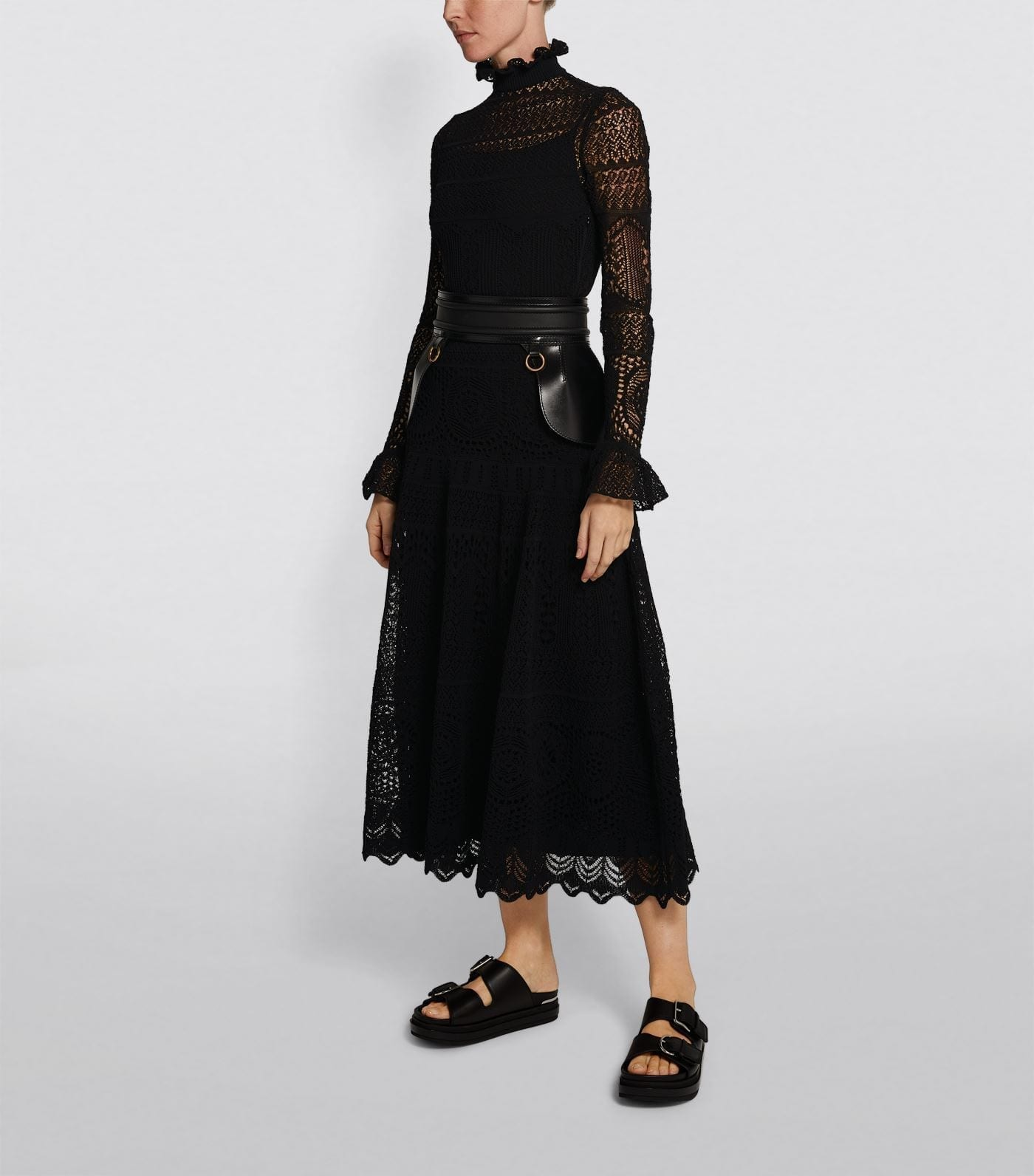ALEXANDER MCQUEEN Long Lace Dress