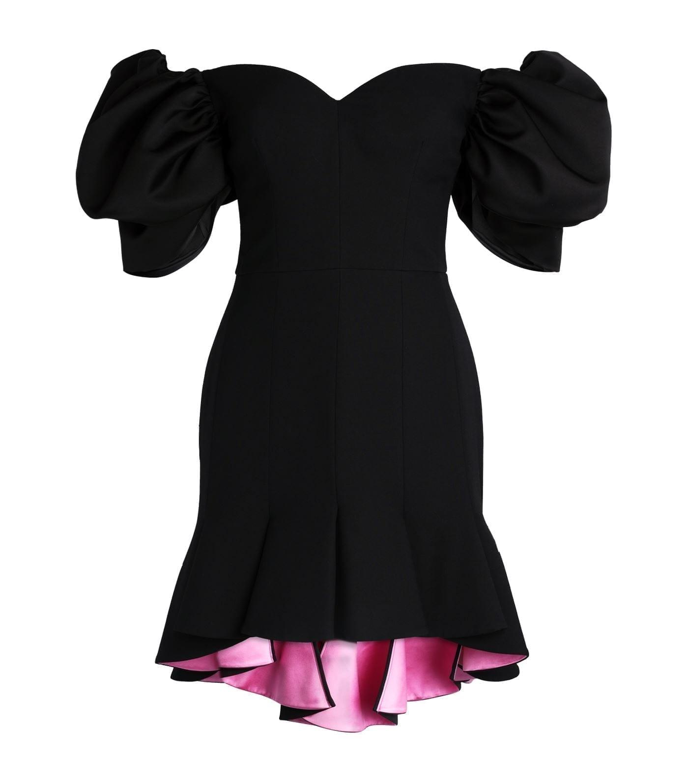 ALEXANDER MCQUEEN Puff Sleeve Dress