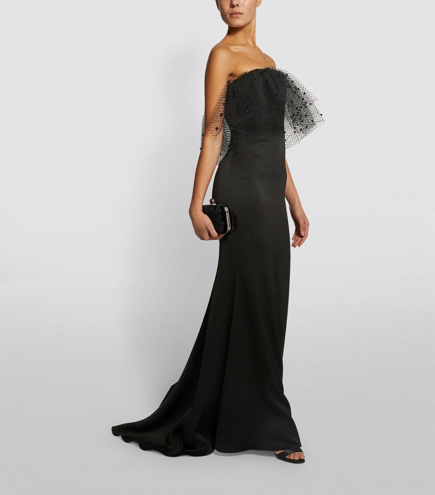 ALEXIS MABILLE Voile Overlay Strapless Gown
