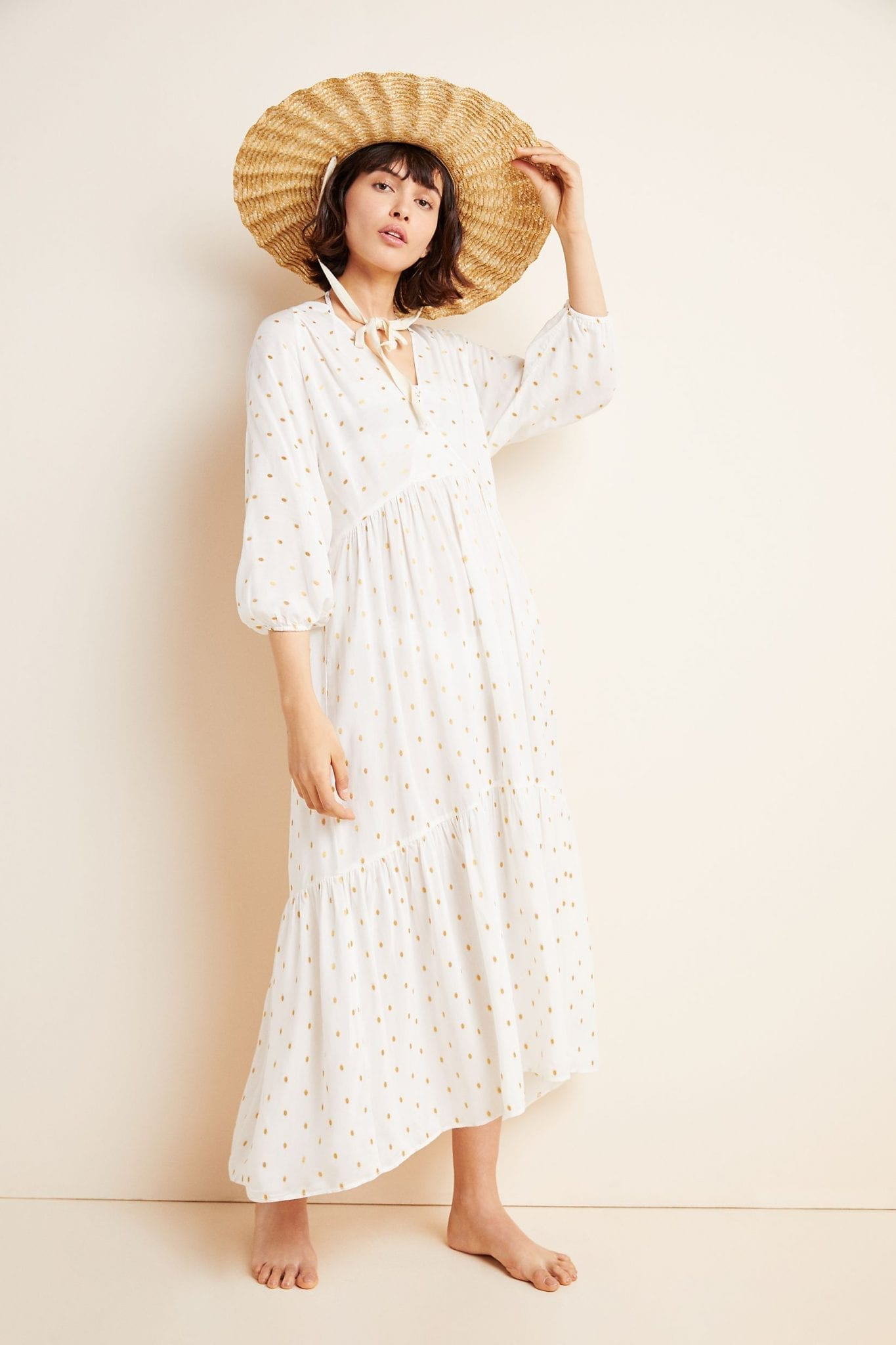 ANTHROPOLOGIE Augustine Tiered Maxi Dress