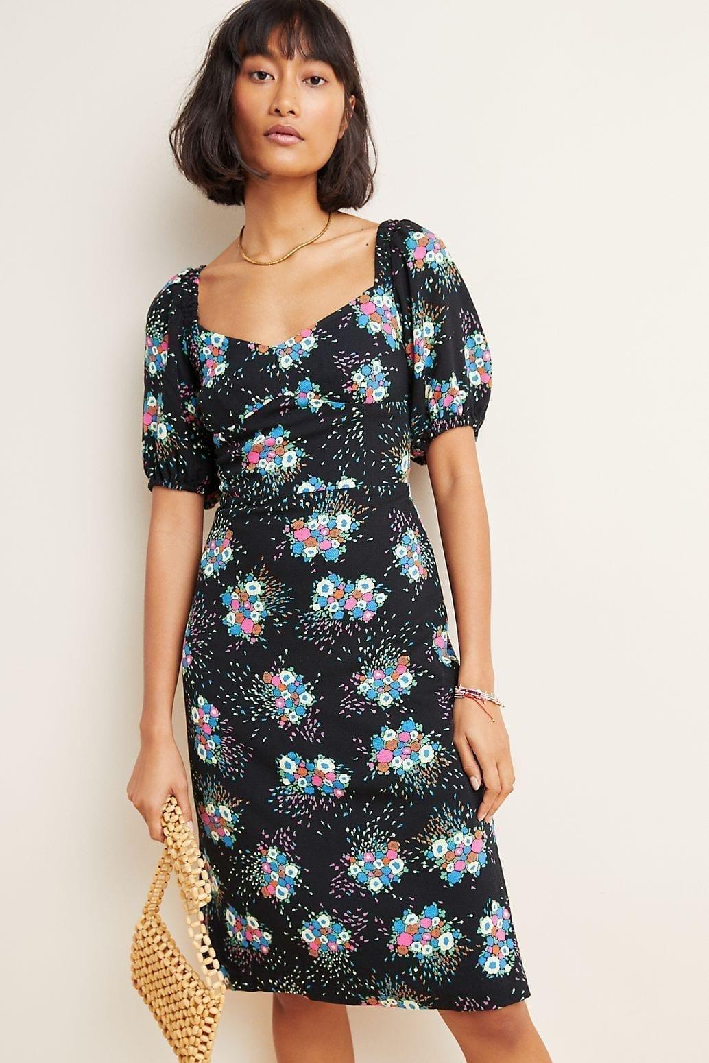 ANTHROPOLOGIE Scarletta Sweetheart Mini Dress