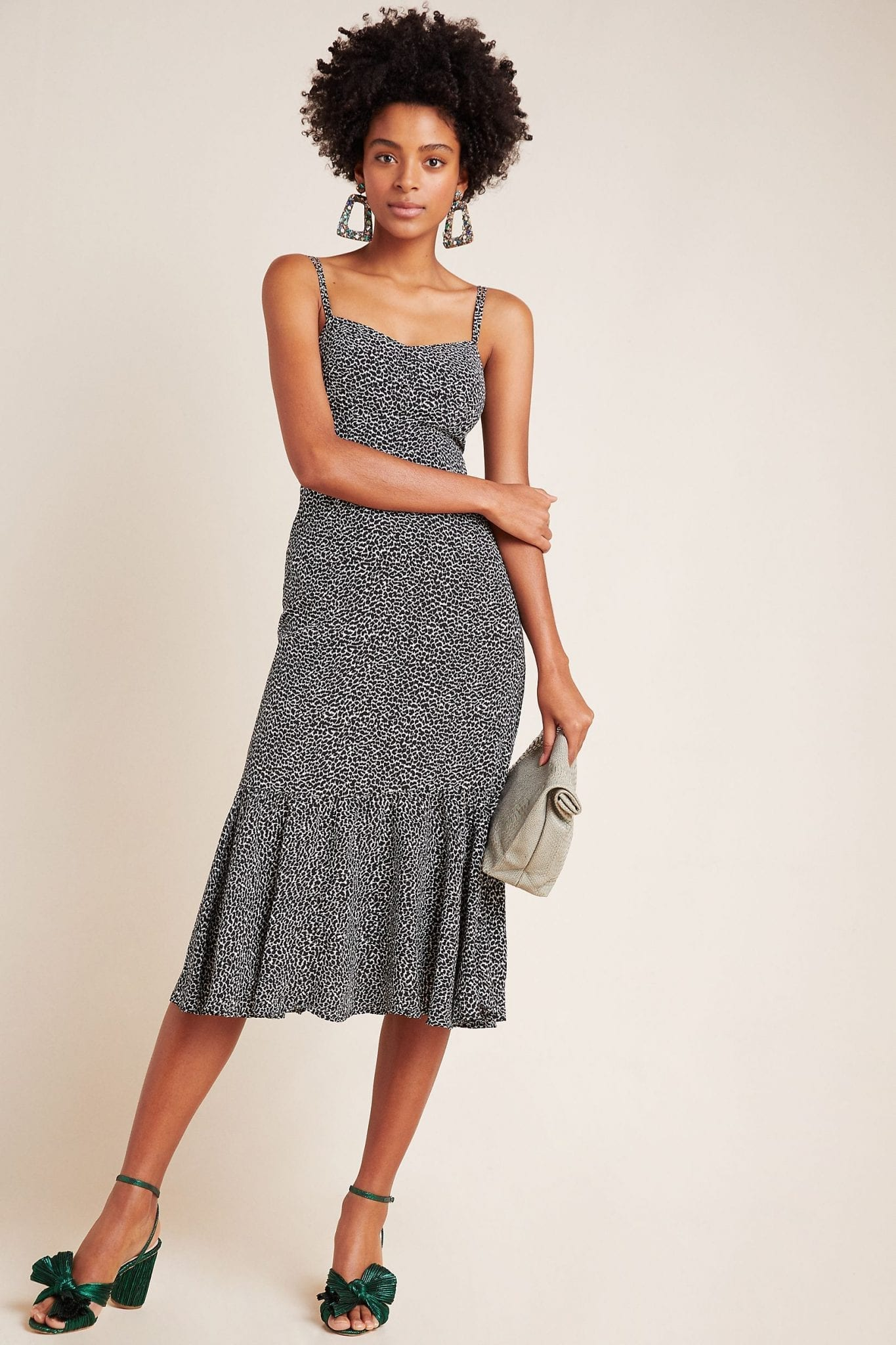ANTHROPOLOGIE Tina Flounced Midi Dress