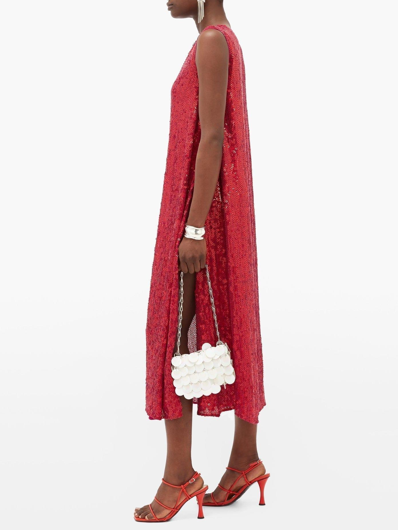 ASHISH Sequinned Side-slit Dress