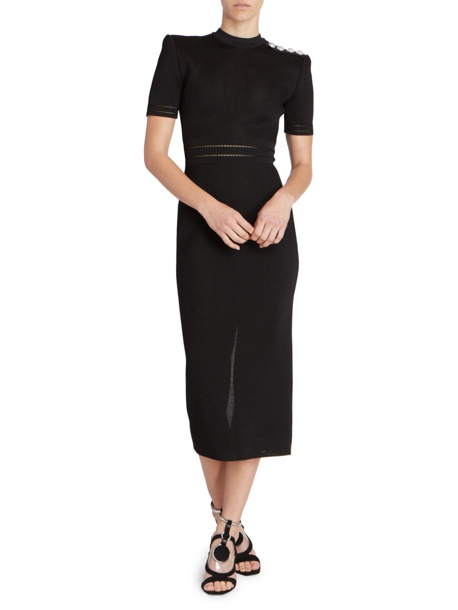 BALMAIN Knit Midi Dress