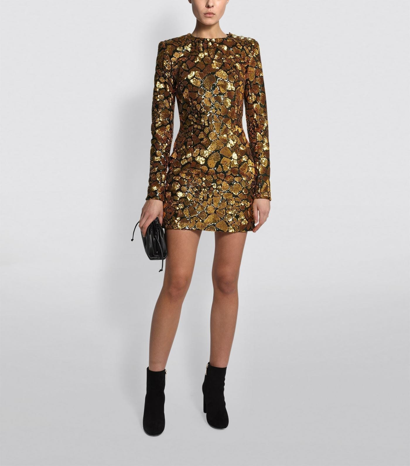 BALMAIN Sequin Giraffe Print Dress