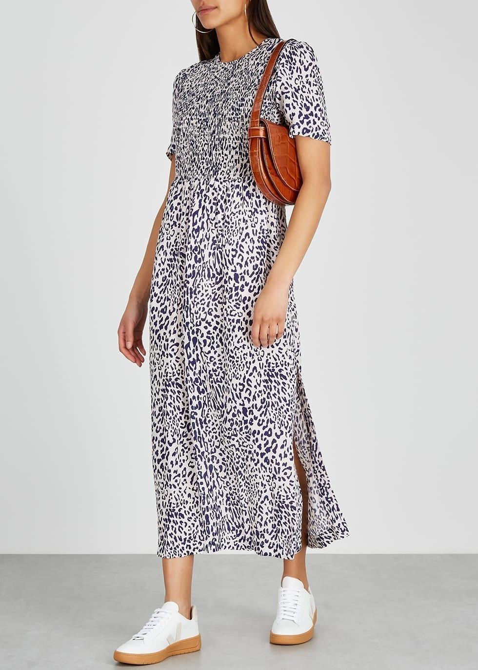 BAUM UND PFERDGARTEN Leopard-print Woven Midi Dress