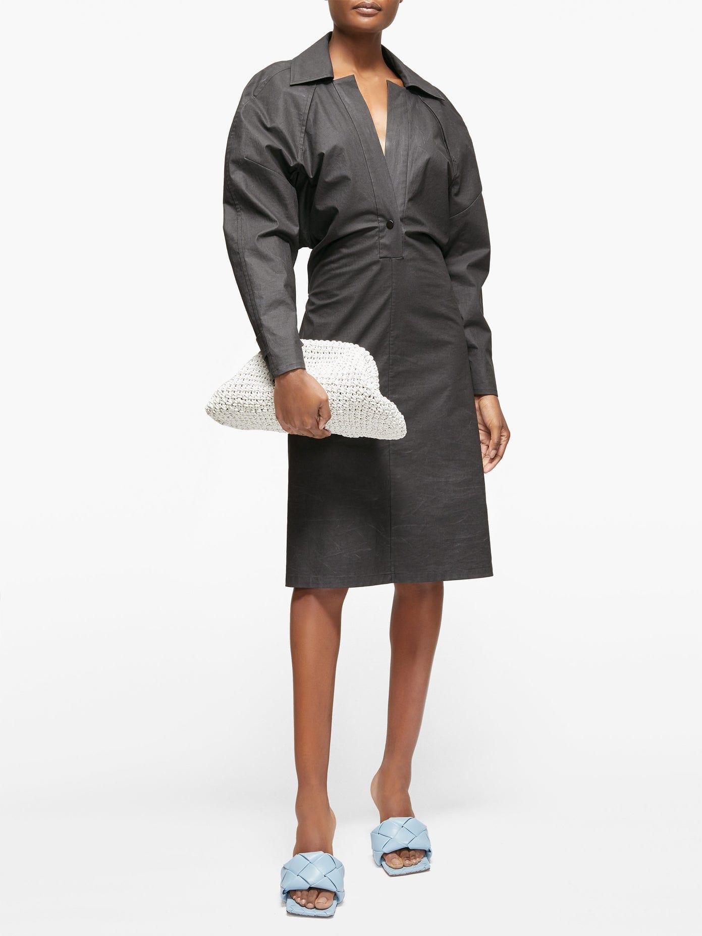 BOTTEGA VENETA Dropped-shoulder Technical-cotton Shirt Dress